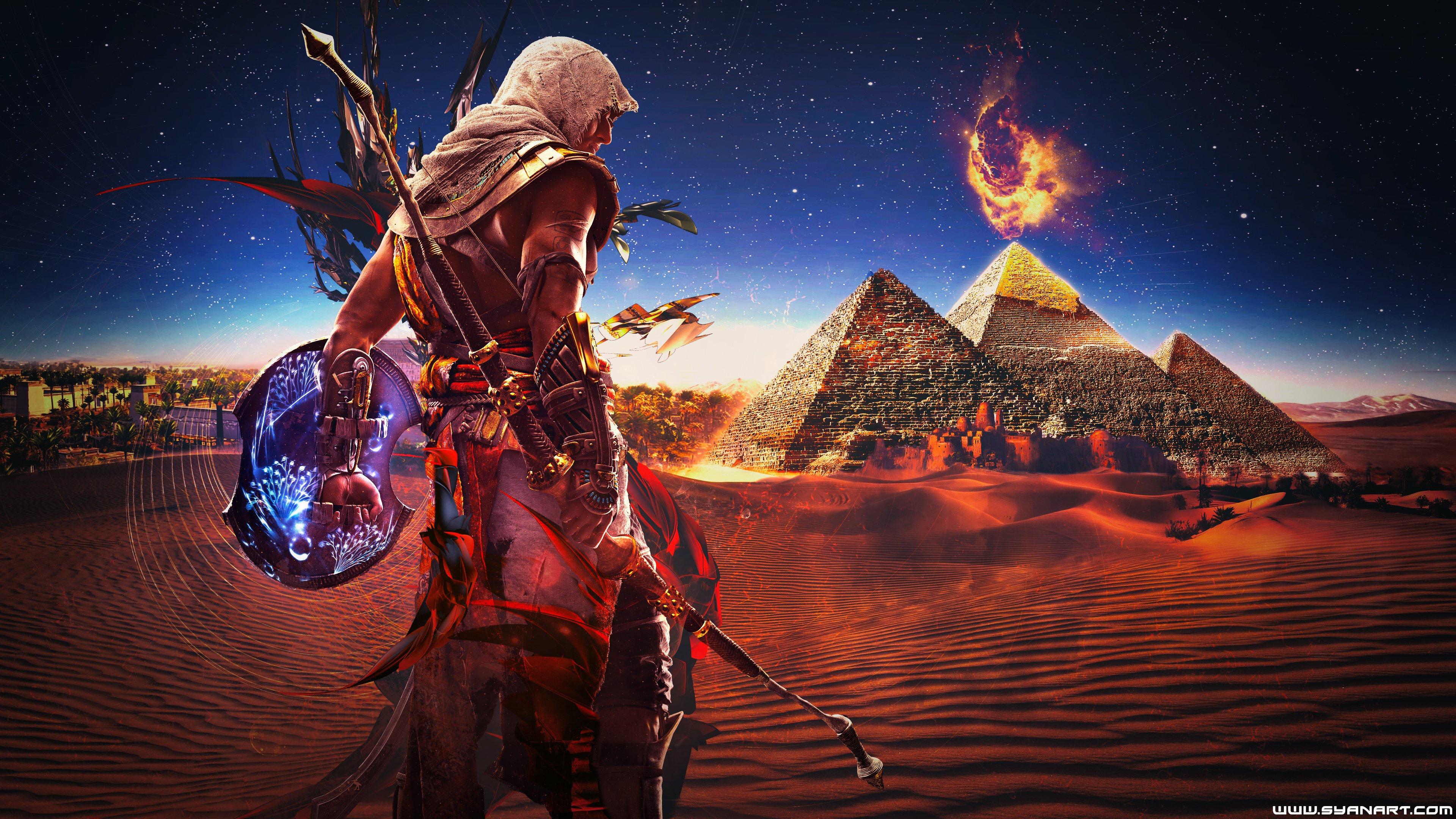 Wallpaper 3840x2160 Px Assassins Creed Fan Art Pyramid Video Games 3840x2160 Wallbase 1341811 Hd Wallpapers Wallhere