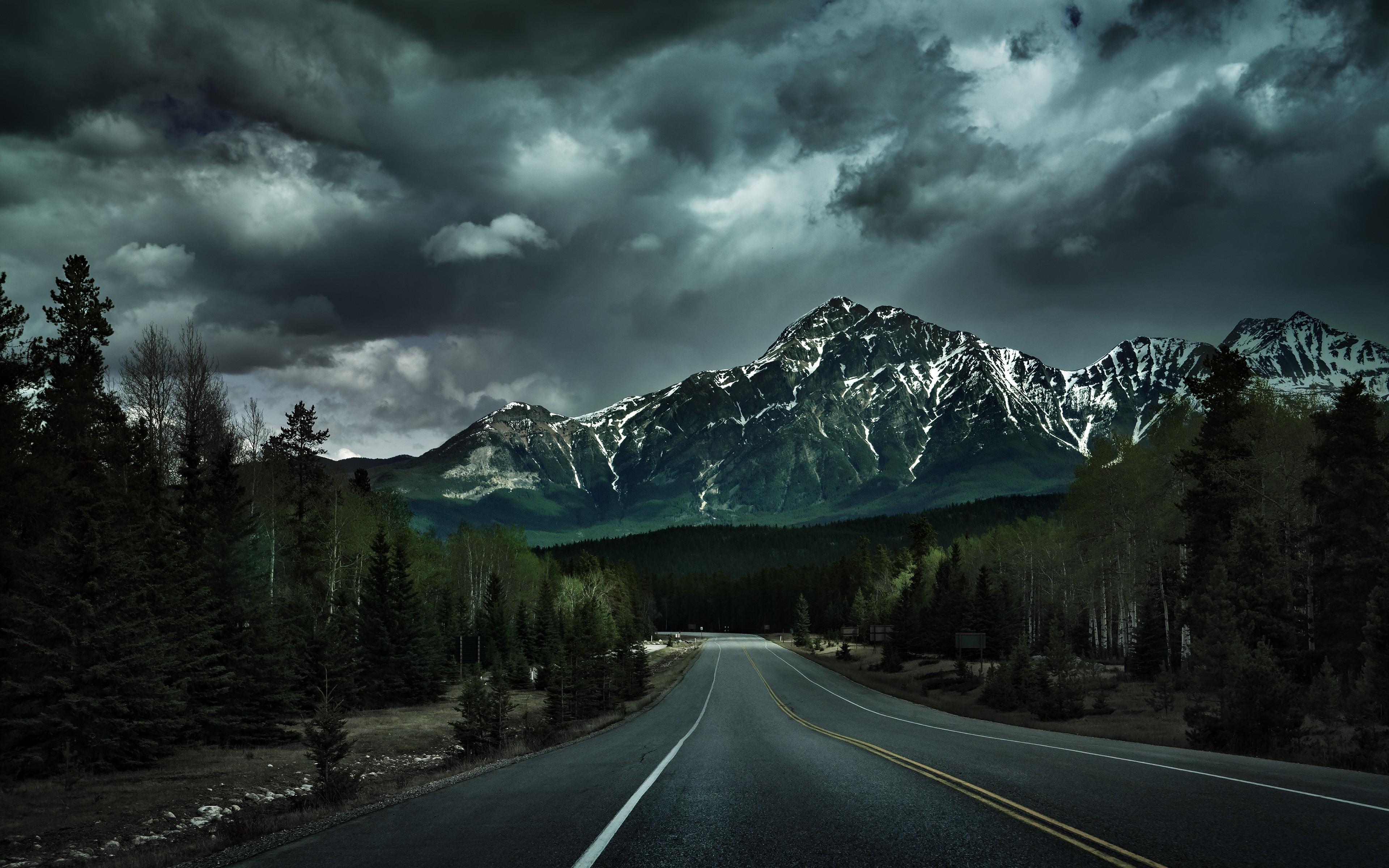 Wallpaper : 3840x2400 px, landscape, mountain, road ...