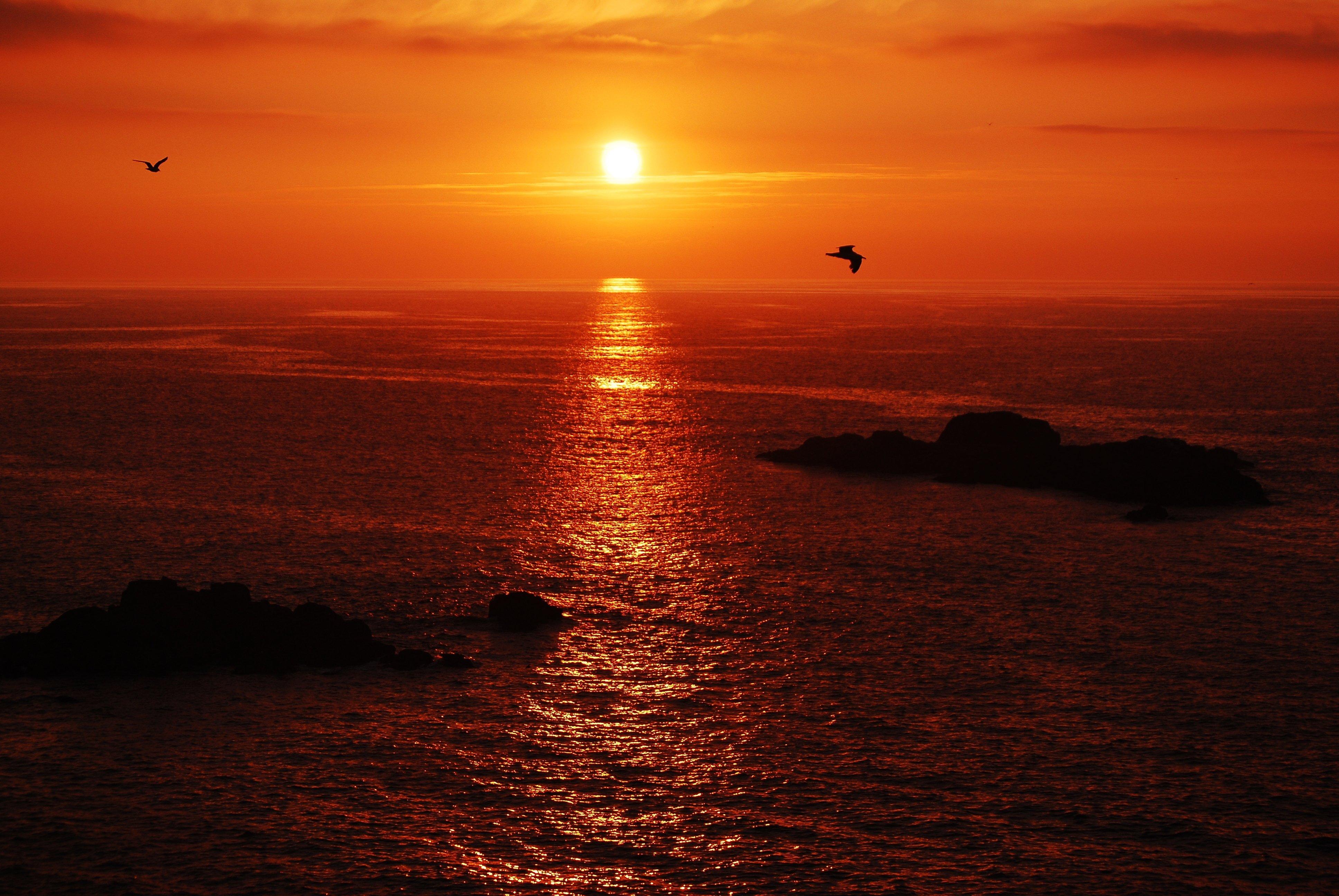 Картинки закат над морем