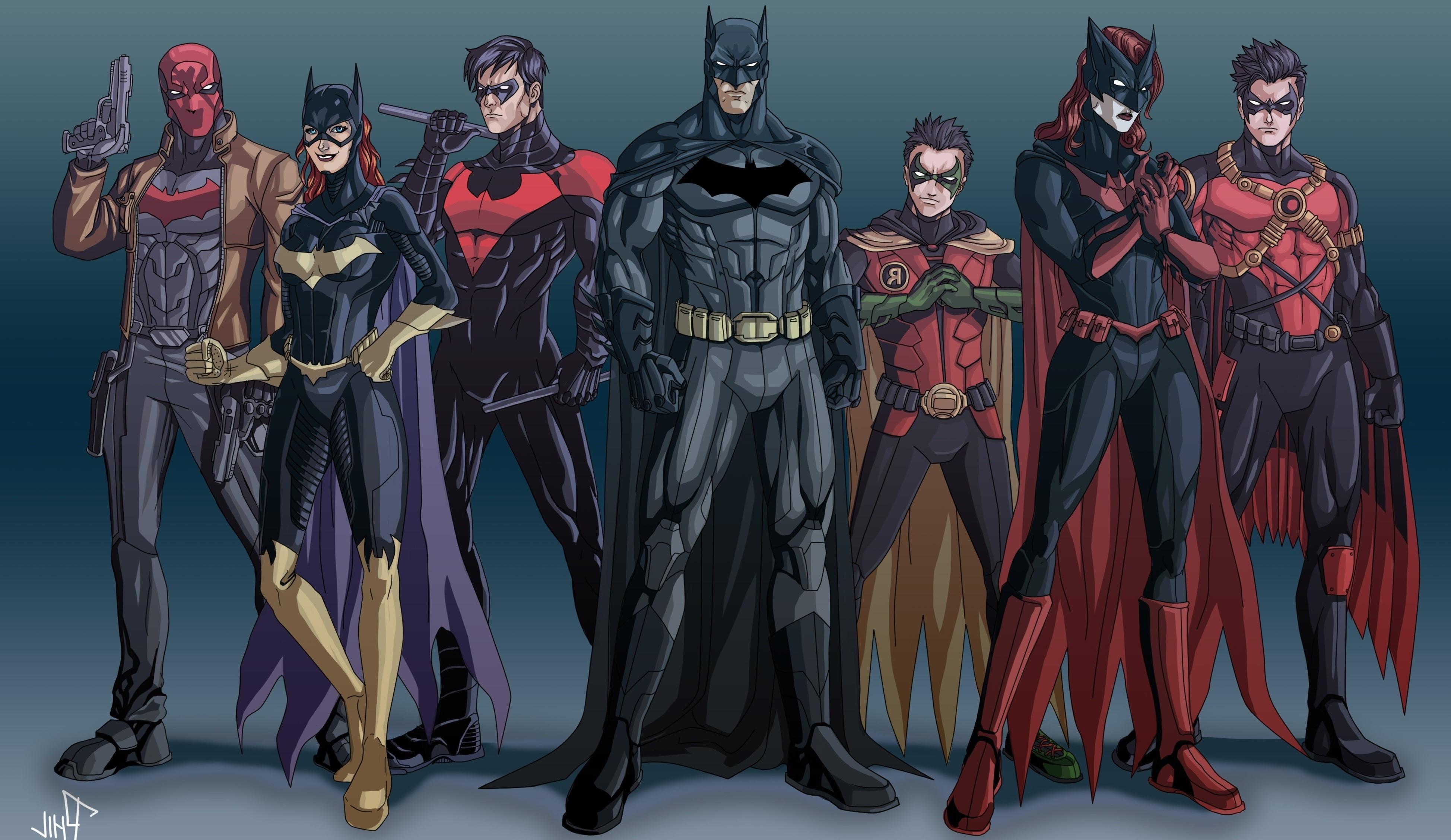 3896x2256 Px Batgirl Batman Batwoman DC Comics Nightwing Red Hood Robin Character