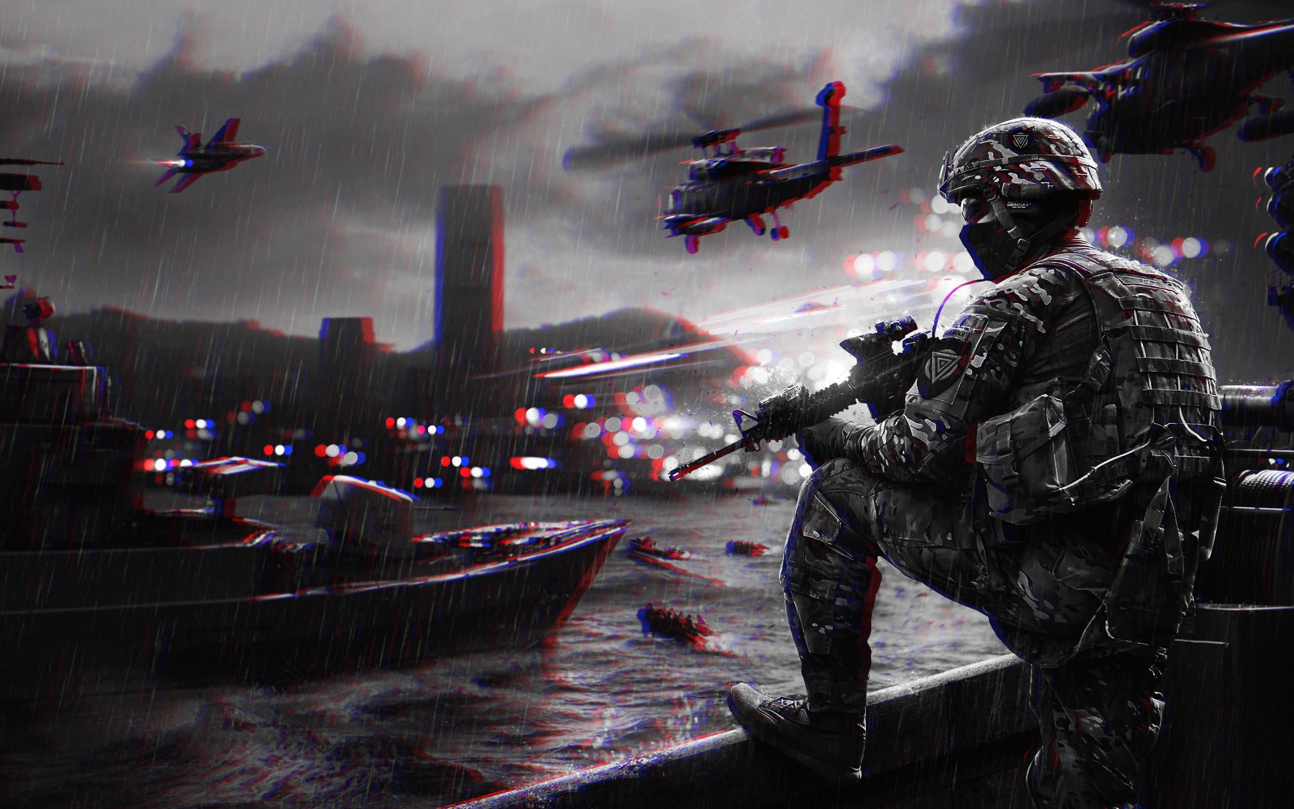 Masaüstü 3 Boyutlu Battlefield Anaglyph 3d Ekran Görüntüsü