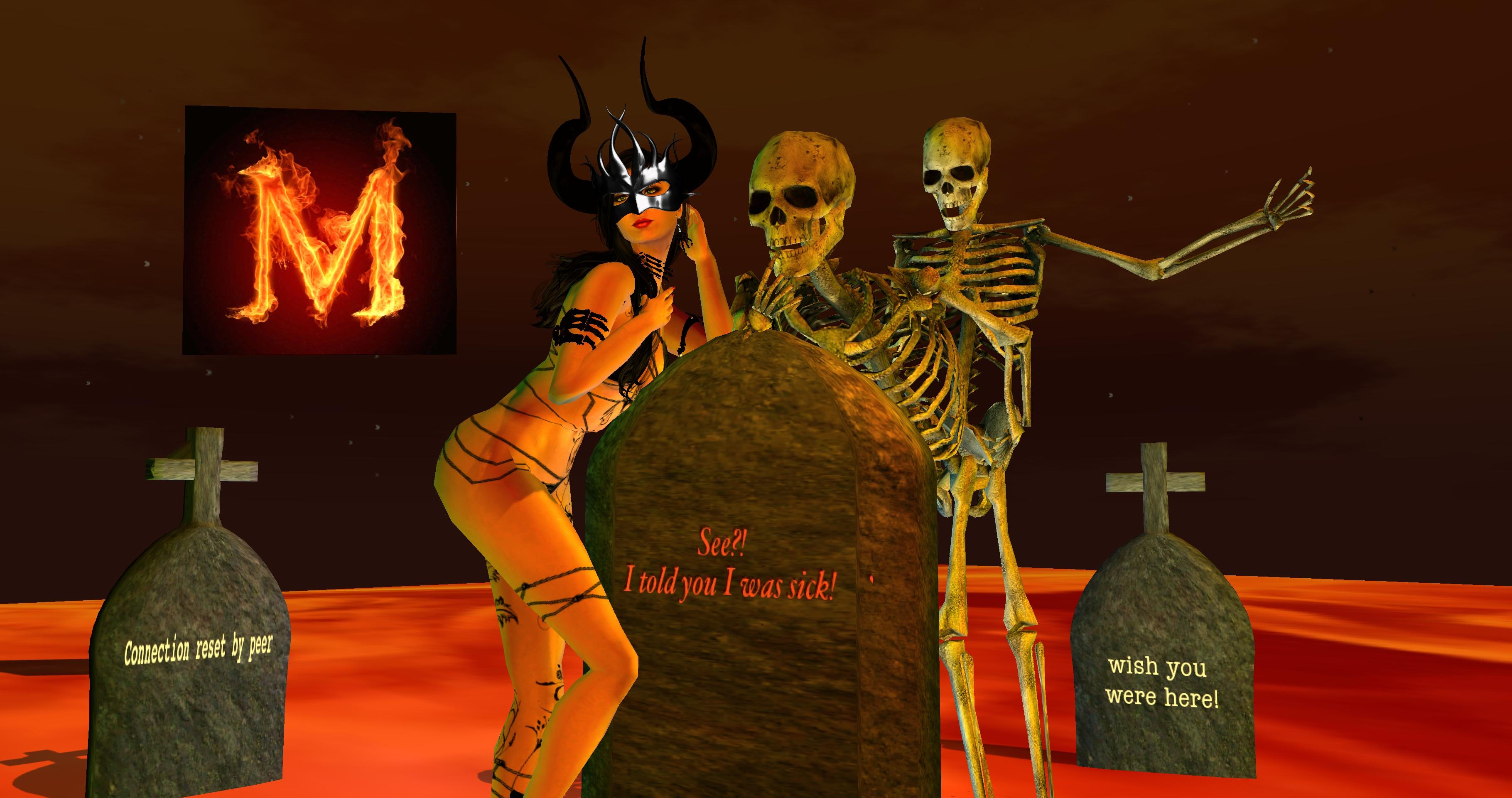 wallpaper 3d halloween mask horns cgi devil bones october