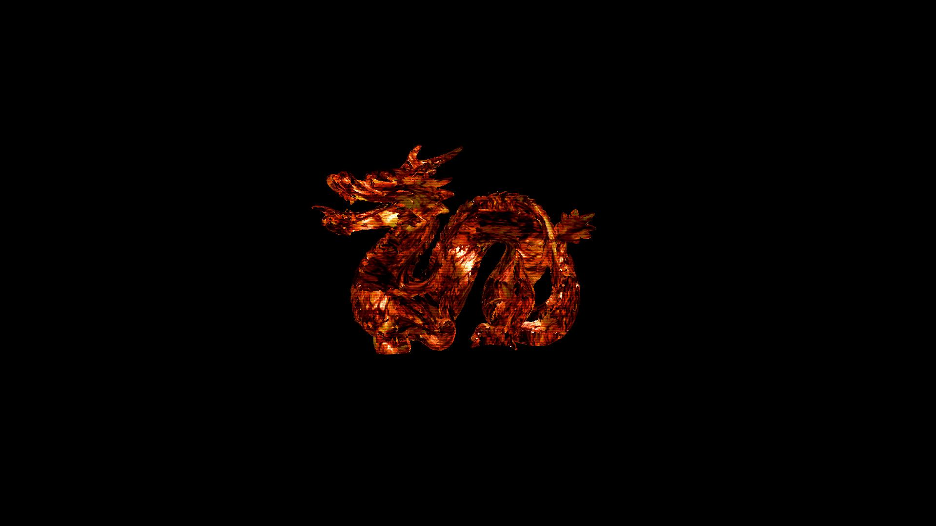 Fond Décran 3d Feu Dragon Lave Flamme Obscurité
