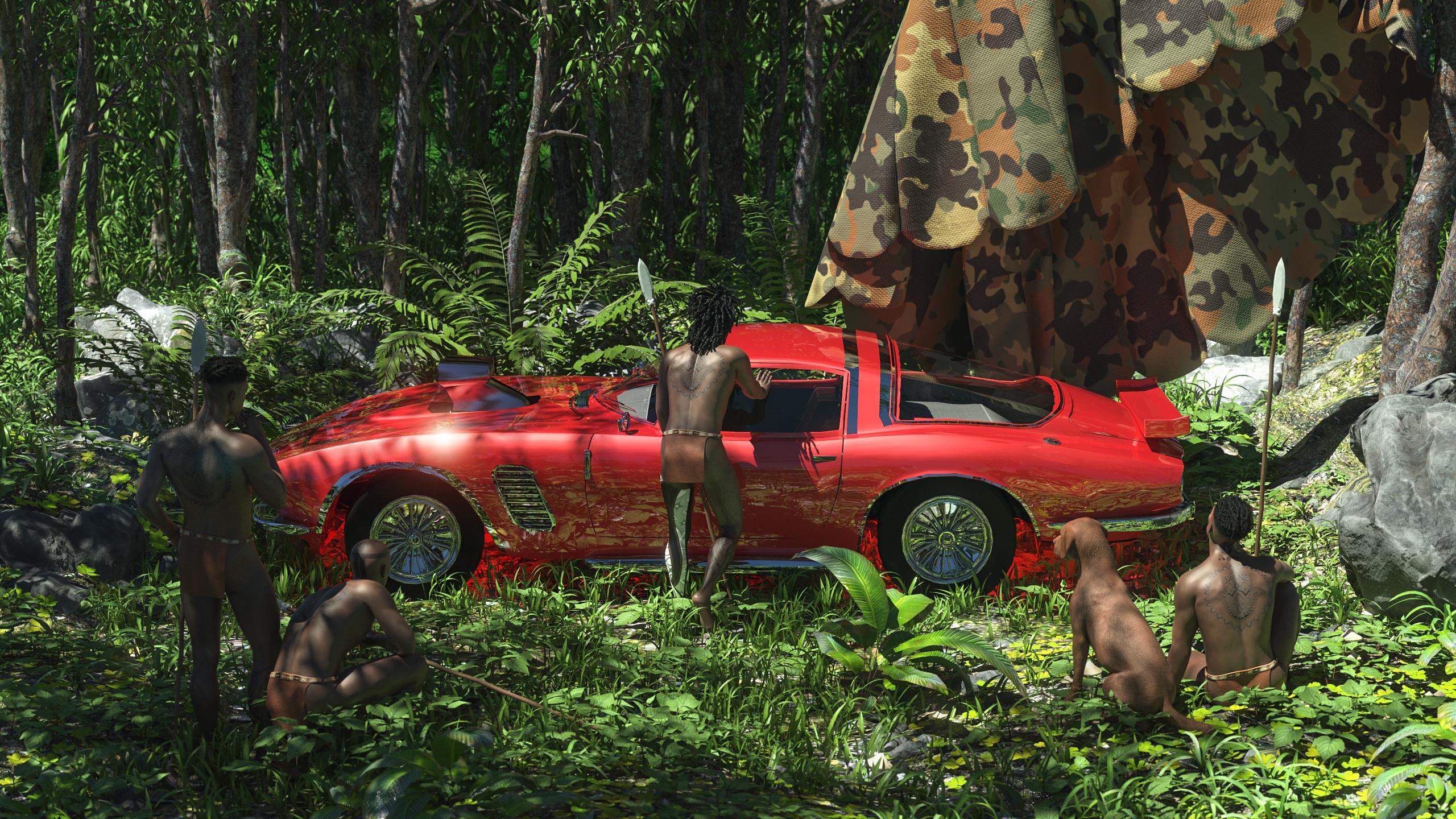 Wallpaper : render, keyshot, Daz 3D, CGI, jungle, forest