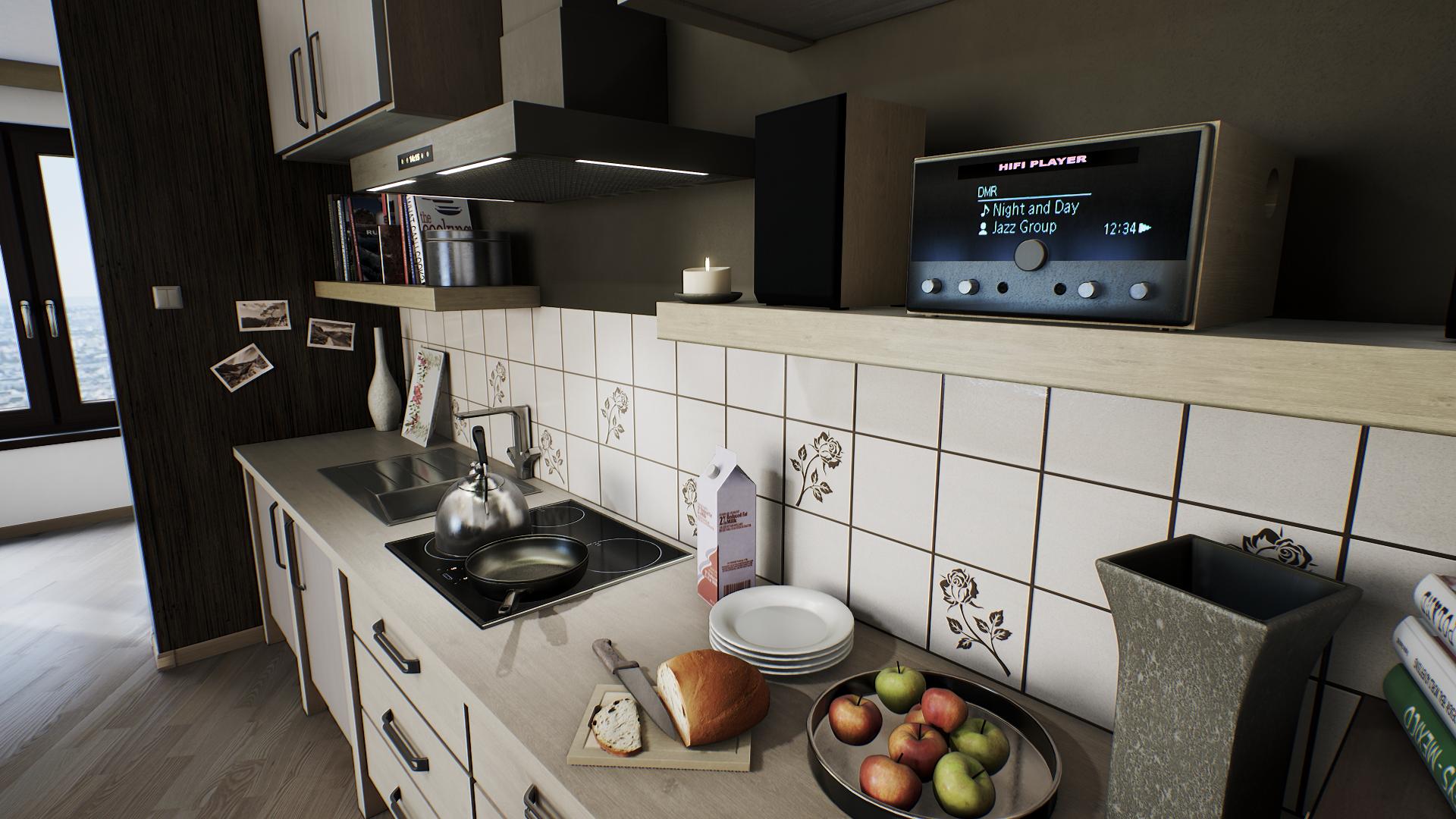 Fondos de pantalla : 3D, habitación, CGI, cocina, diseño de ...