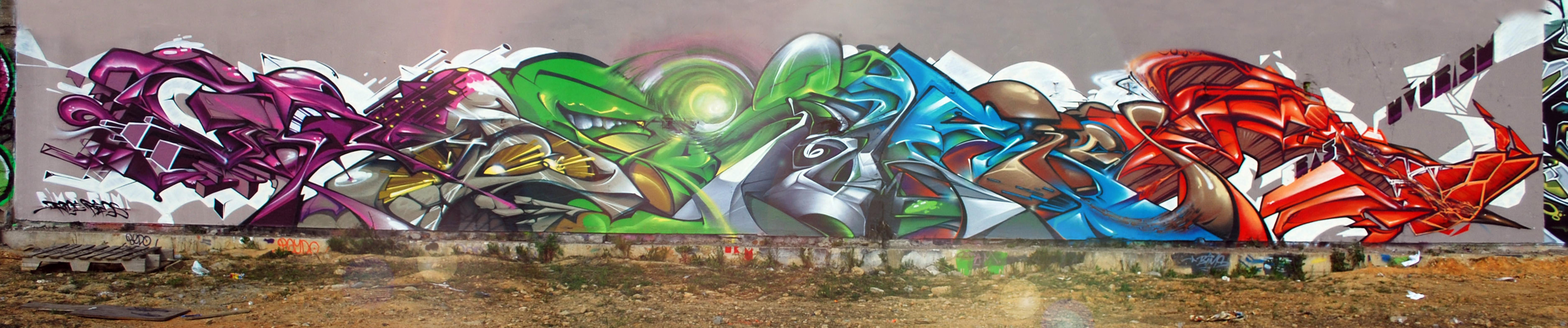 Wallpaper 3D Triangle Graffiti Street Art Ghetto