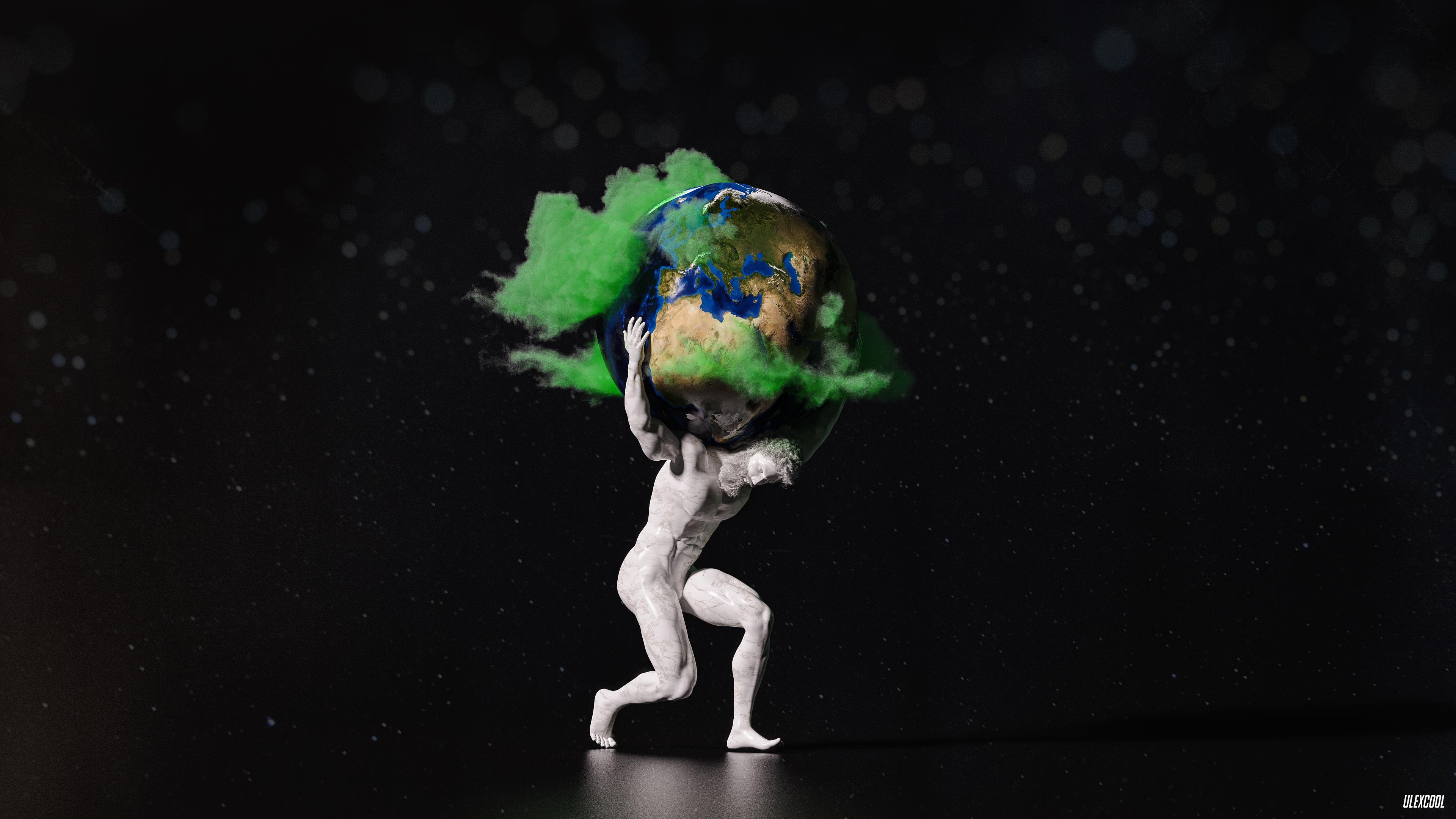 God Creating the Earth - Lot 5 | 2160x3840