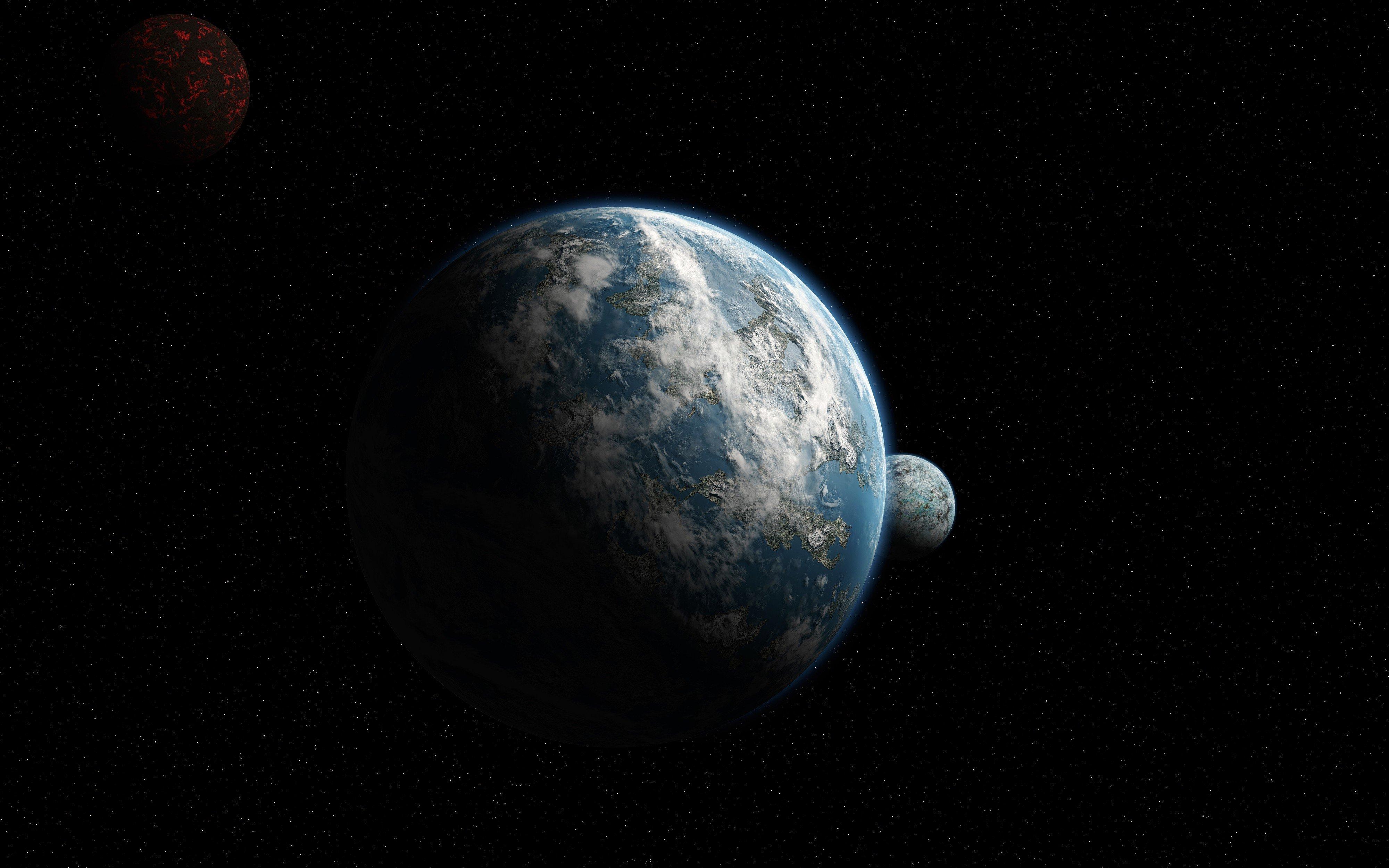 4000x2500 Px Galaxy Mac Planet Scientific Space Stars Ultrahd Wallpaper