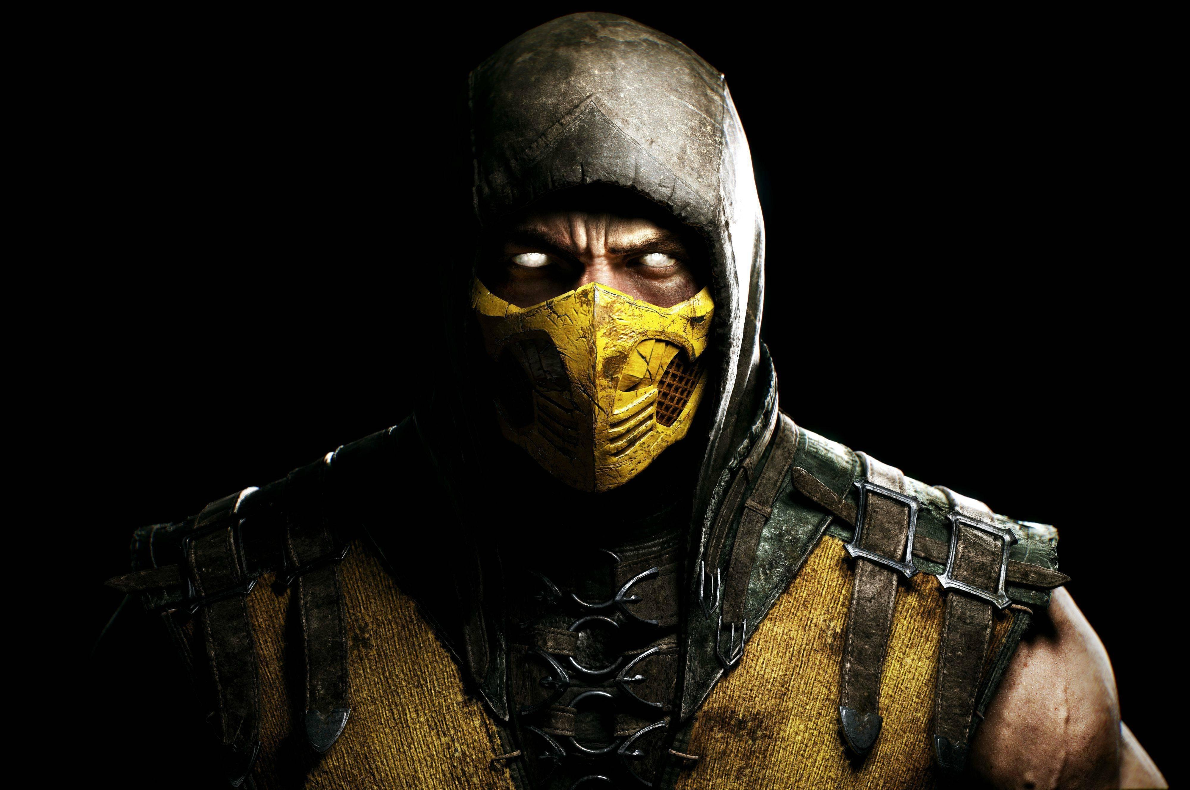 Wallpaper 4000x2657 Px Face Mortal Kombat X Scorpion