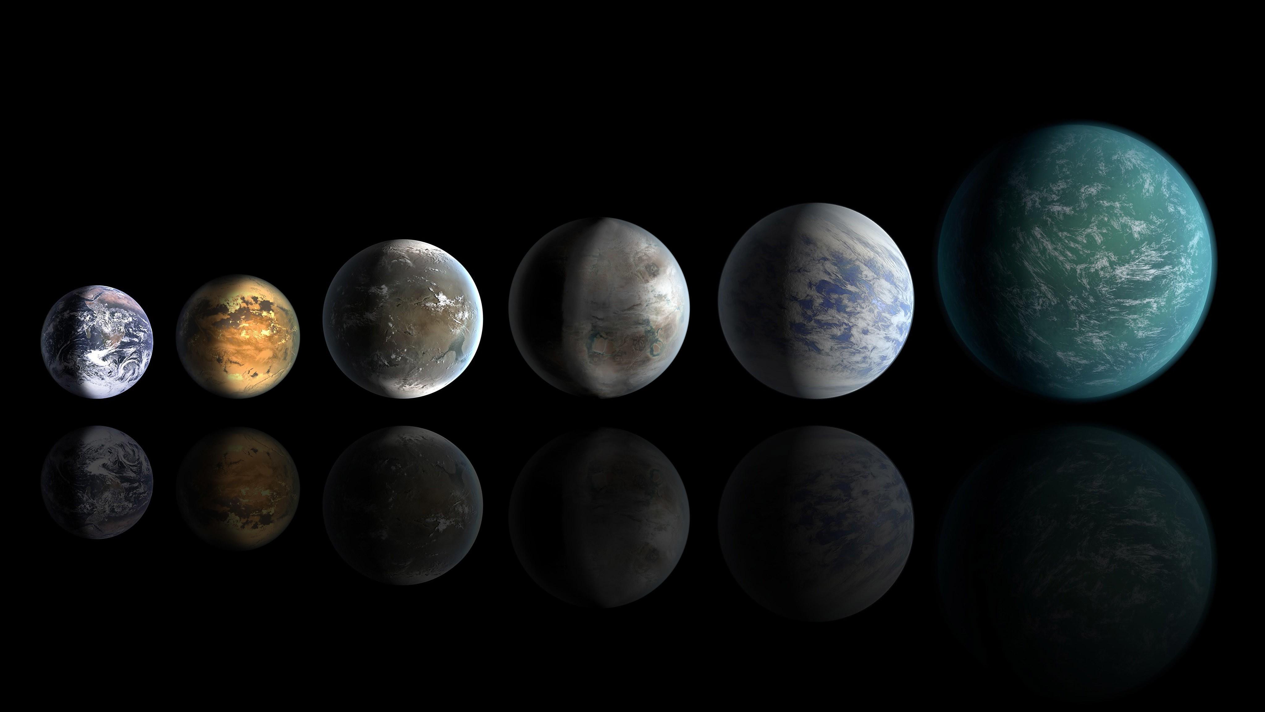 Papel De Parede 4096x2304 Px Arte Digital Planeta