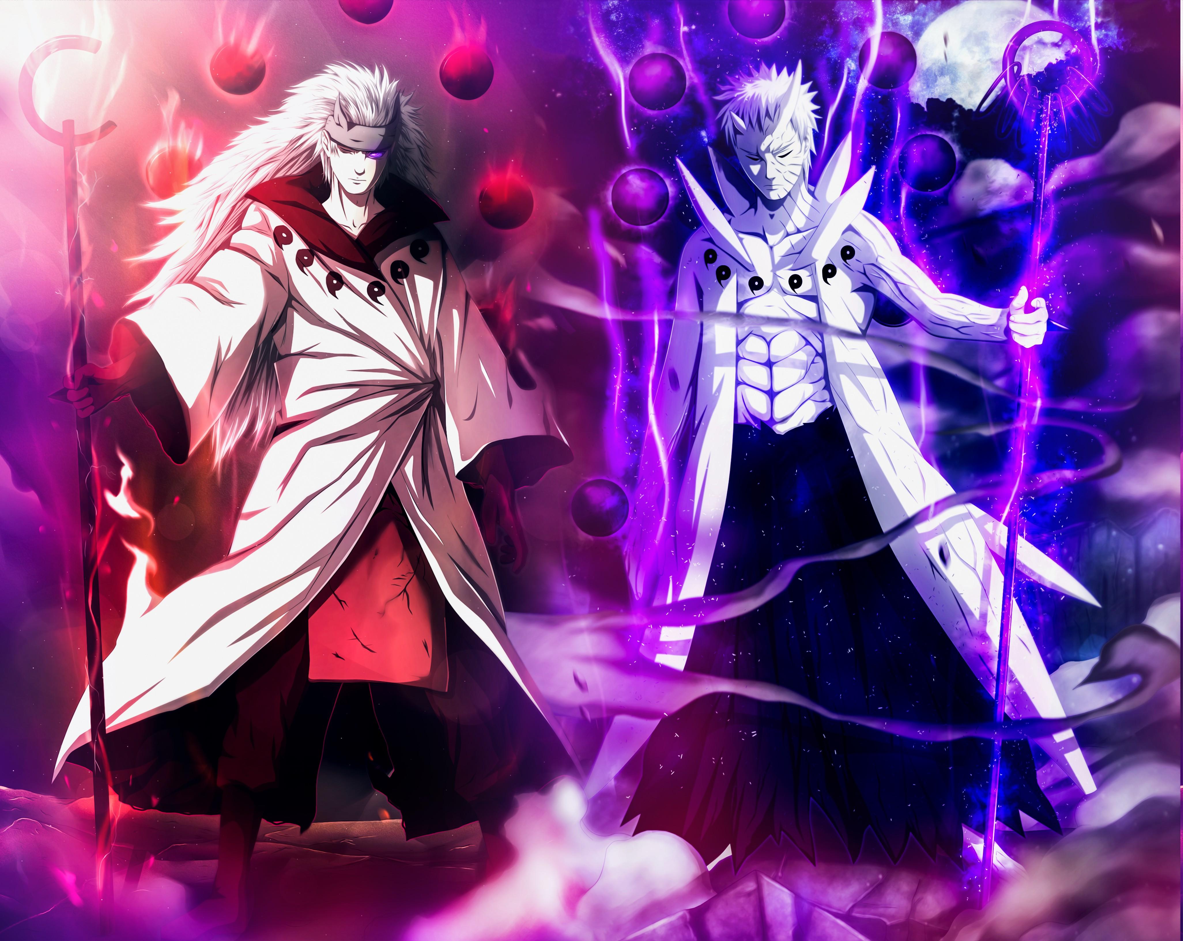 4105x3268 px anime Naruto Shippuuden Uchiha Madara Uchiha Obito 1108023