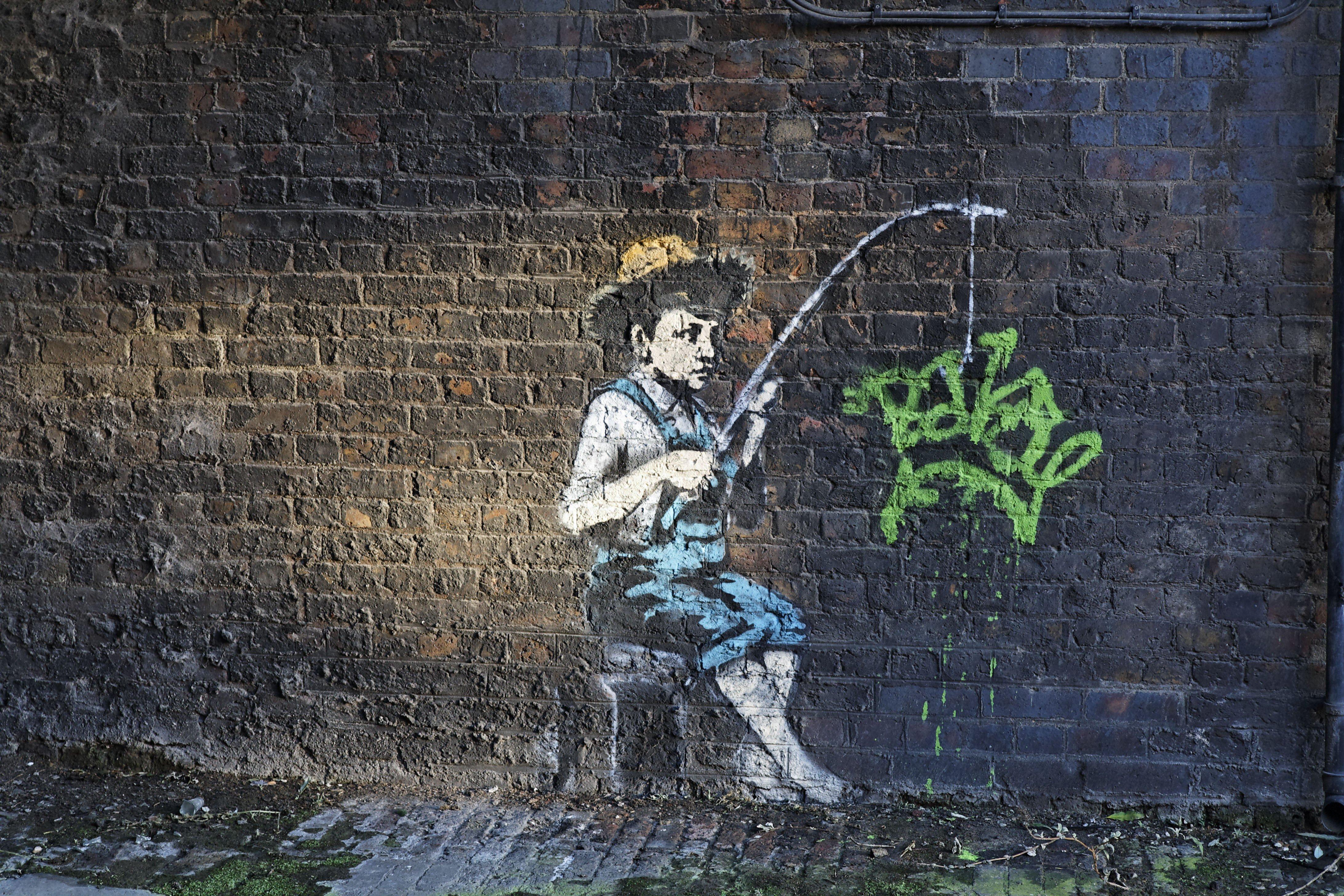 бэнкси граффити картинки менее, очевидцы друзья