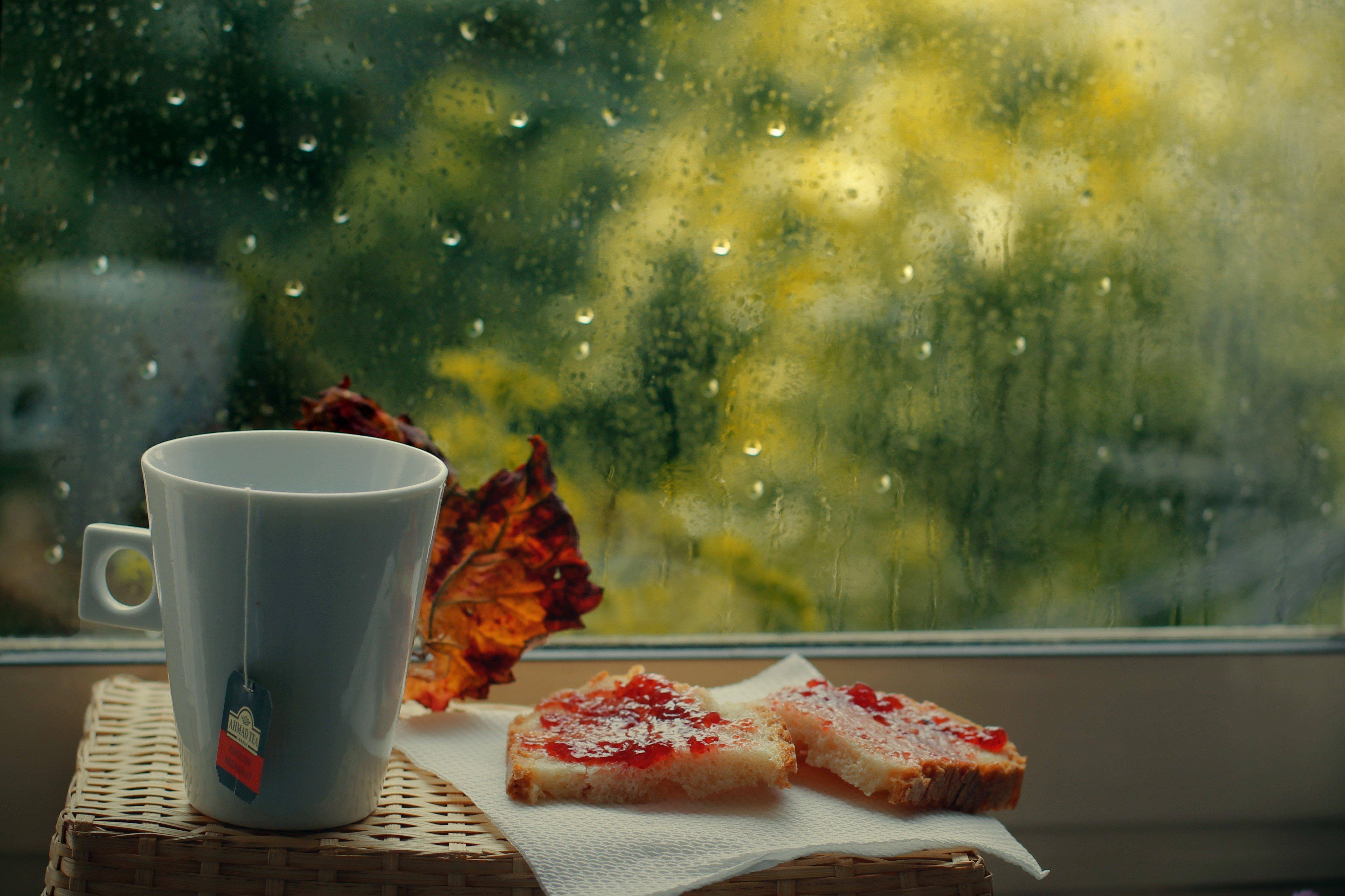 Доброе утро картинки красивые необычные дождь