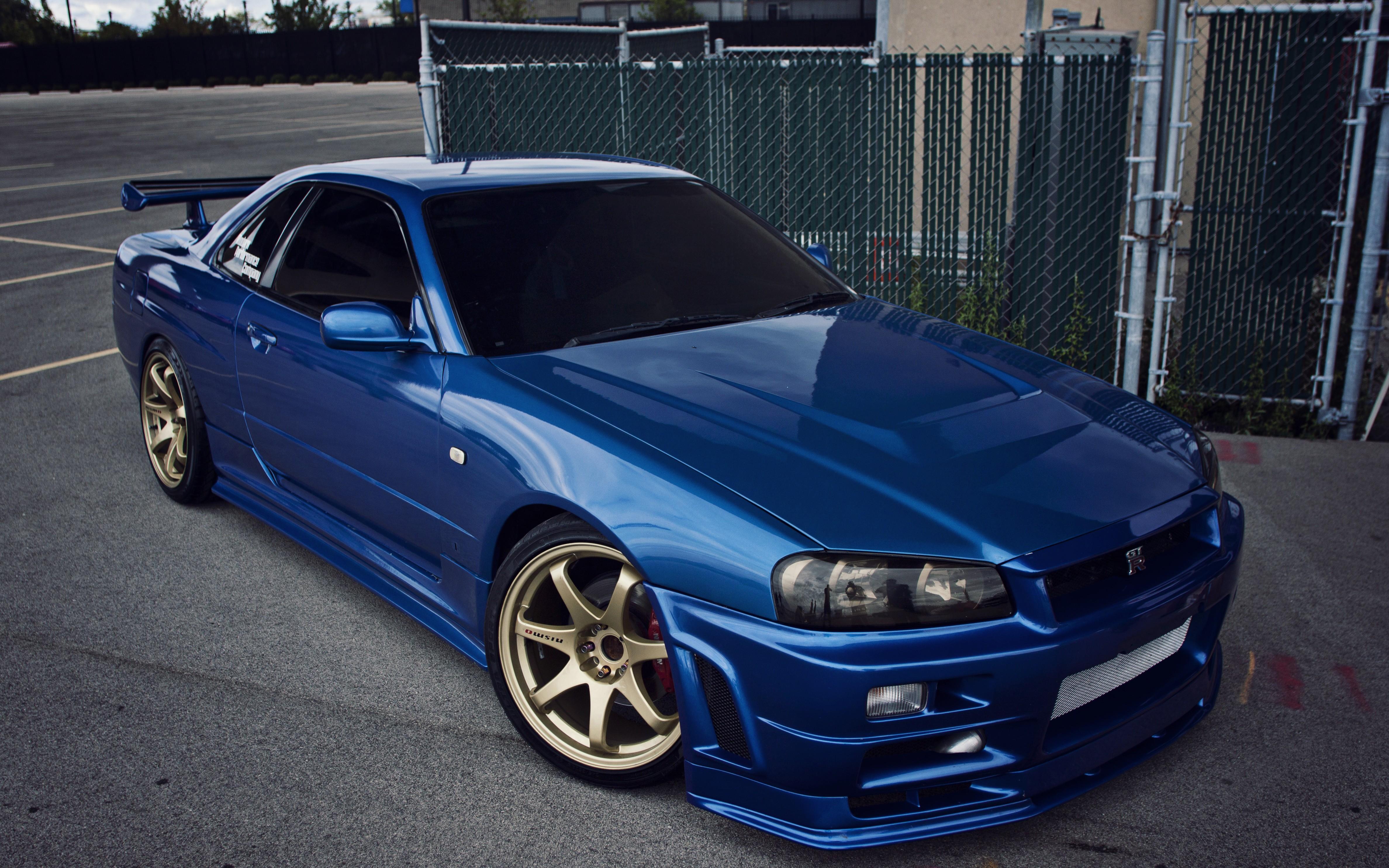 Wallpaper 4752x2970 Px Blue Cars Gt R Japan Jdm