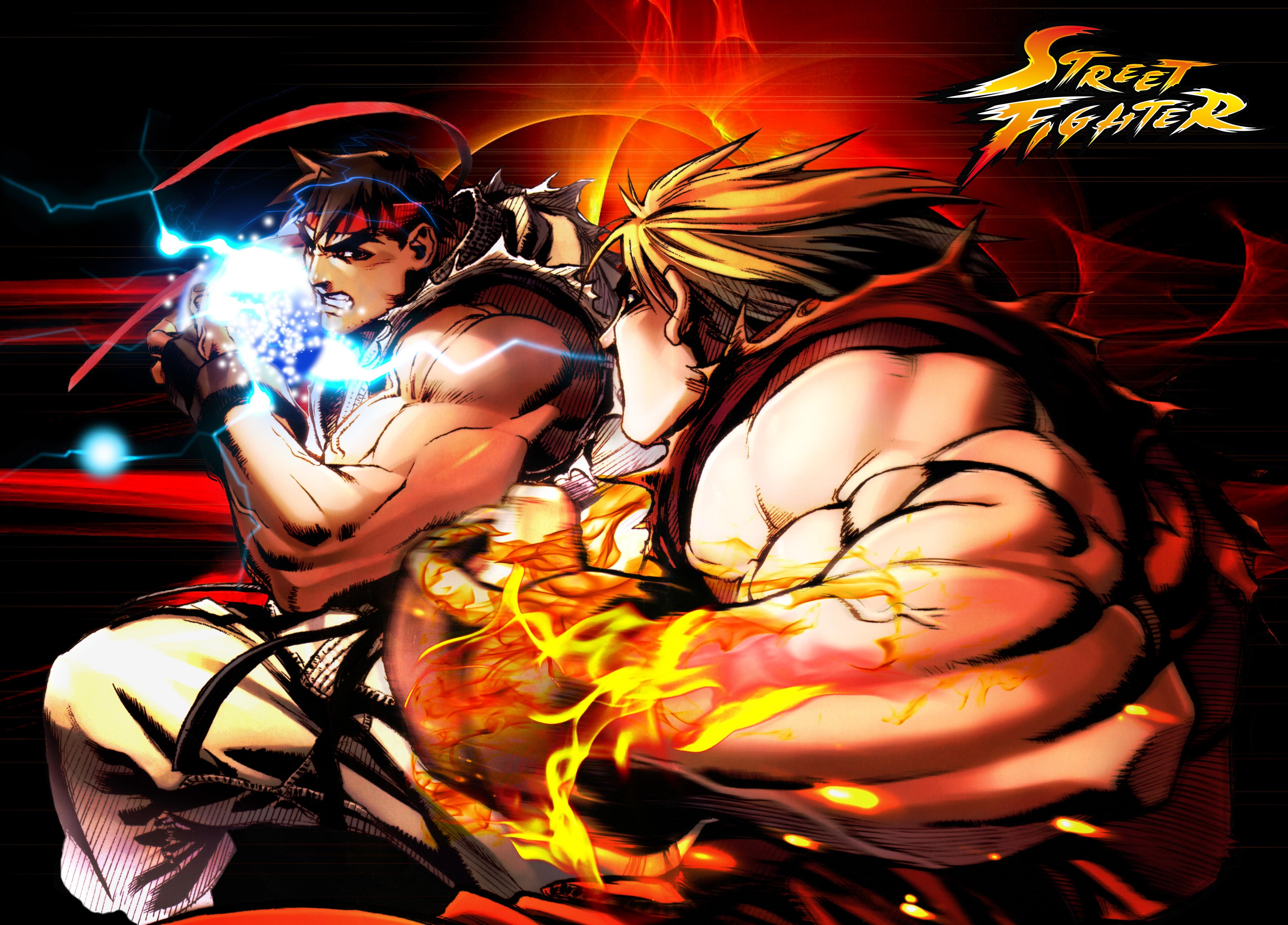 wallpaper : 4886x3508 px, ken street fighter, ryu street fighter