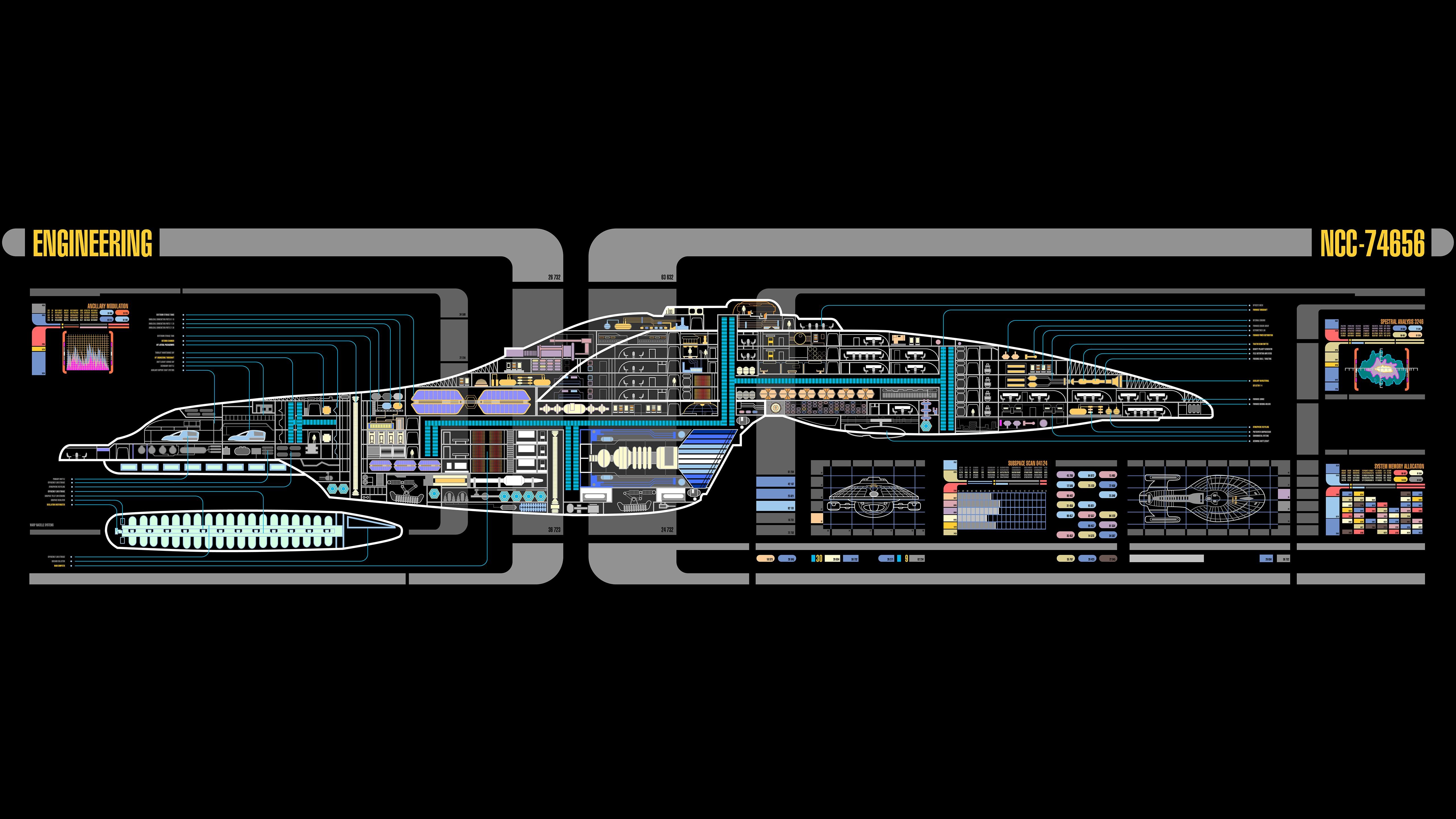 Fondos De Pantalla 5120x2880 Px Lcars Star Trek Uss