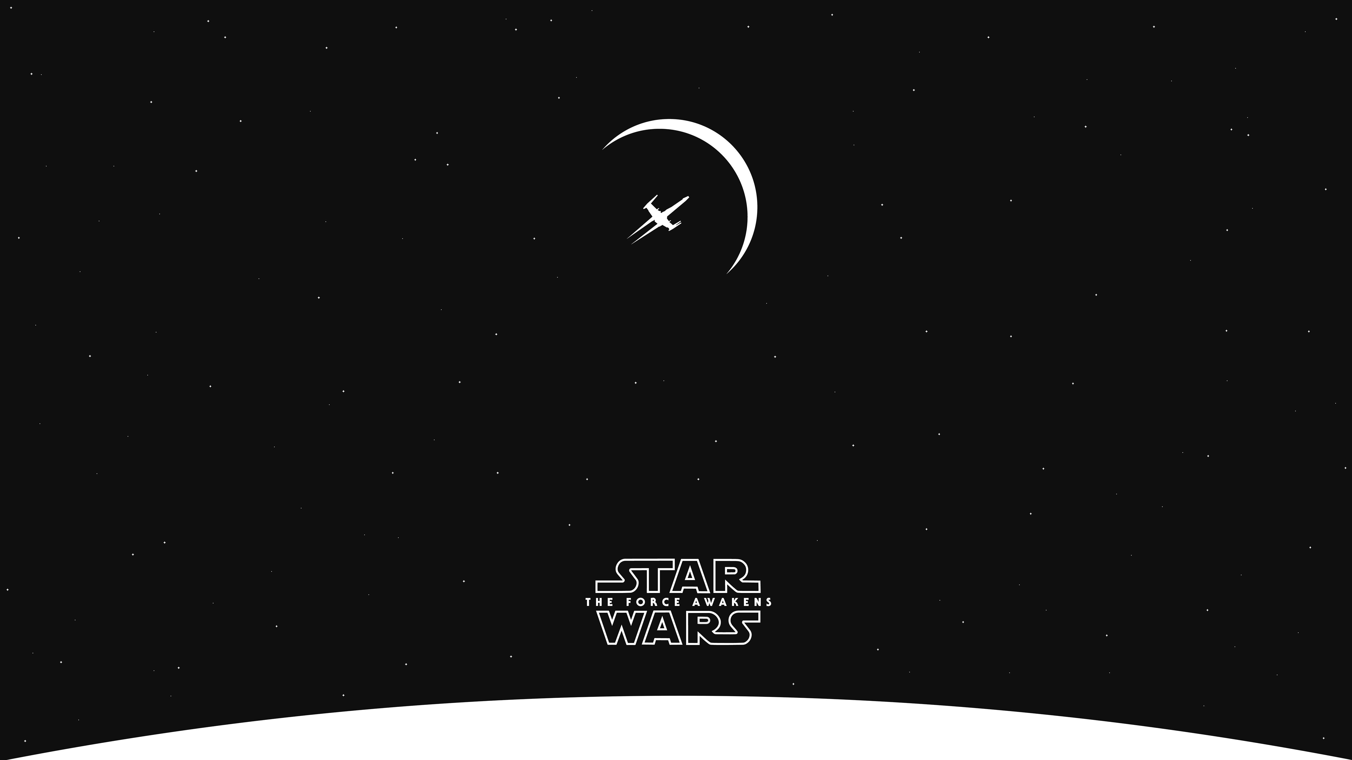 Wallpaper 5120x2880 Px Minimalism Planet Space Star Wars Star Wars The Force Awakens Stars Wing X 5120x2880 Wallup 1428079 Hd Wallpapers Wallhere