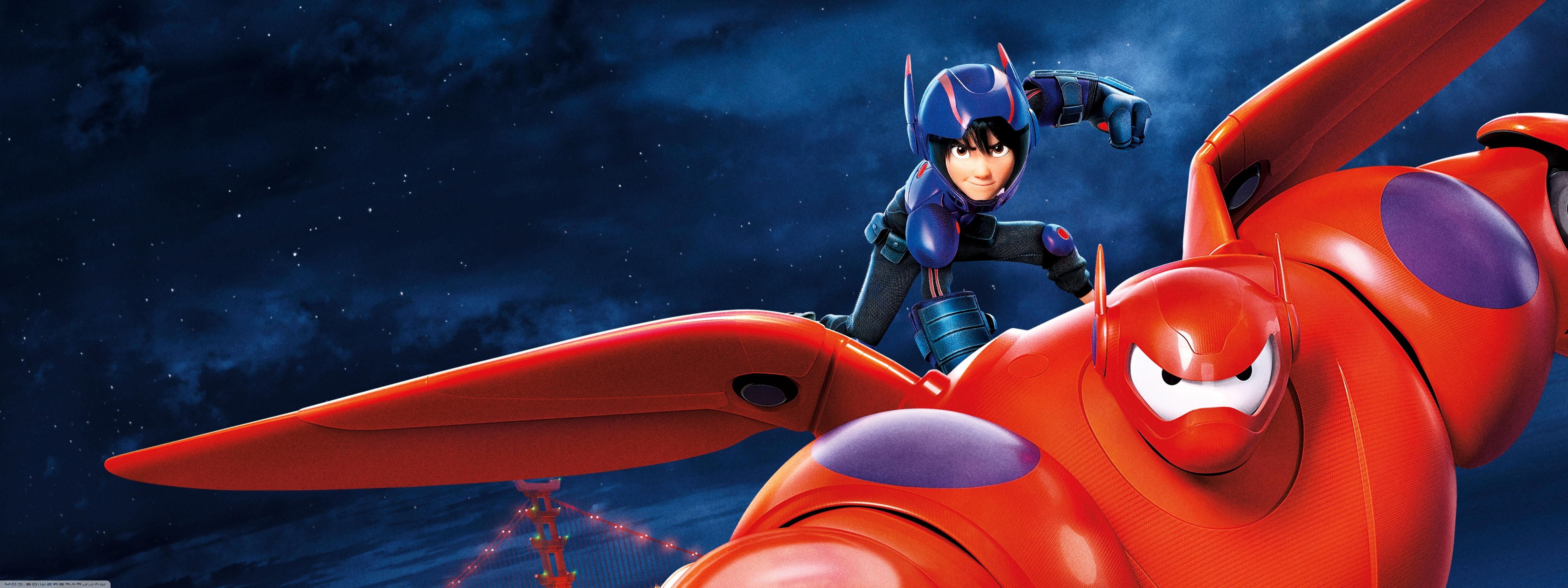 Wallpaper 5600x2100 Px Baymax Big Hero 6 Disney Movies Pixar Animation Studios 5600x2100 Goodfon 1039424 Hd Wallpapers Wallhere