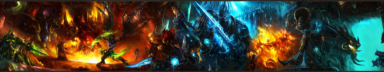 Wallpaper 5760x1080 Px Fantasy Art Sword Triple Screen