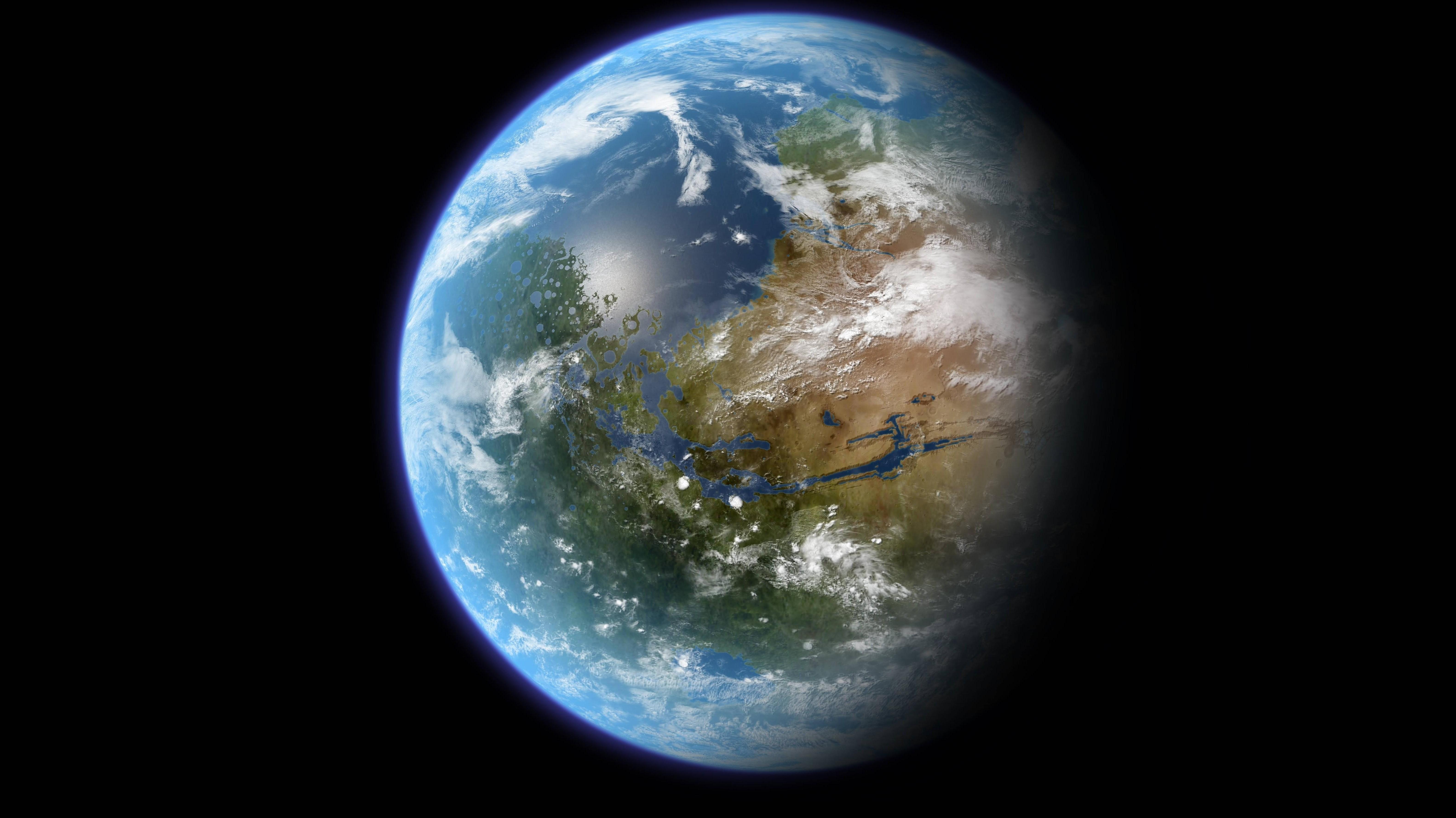 Fond D Ecran 6332x3560 Px Terre Planete Espace
