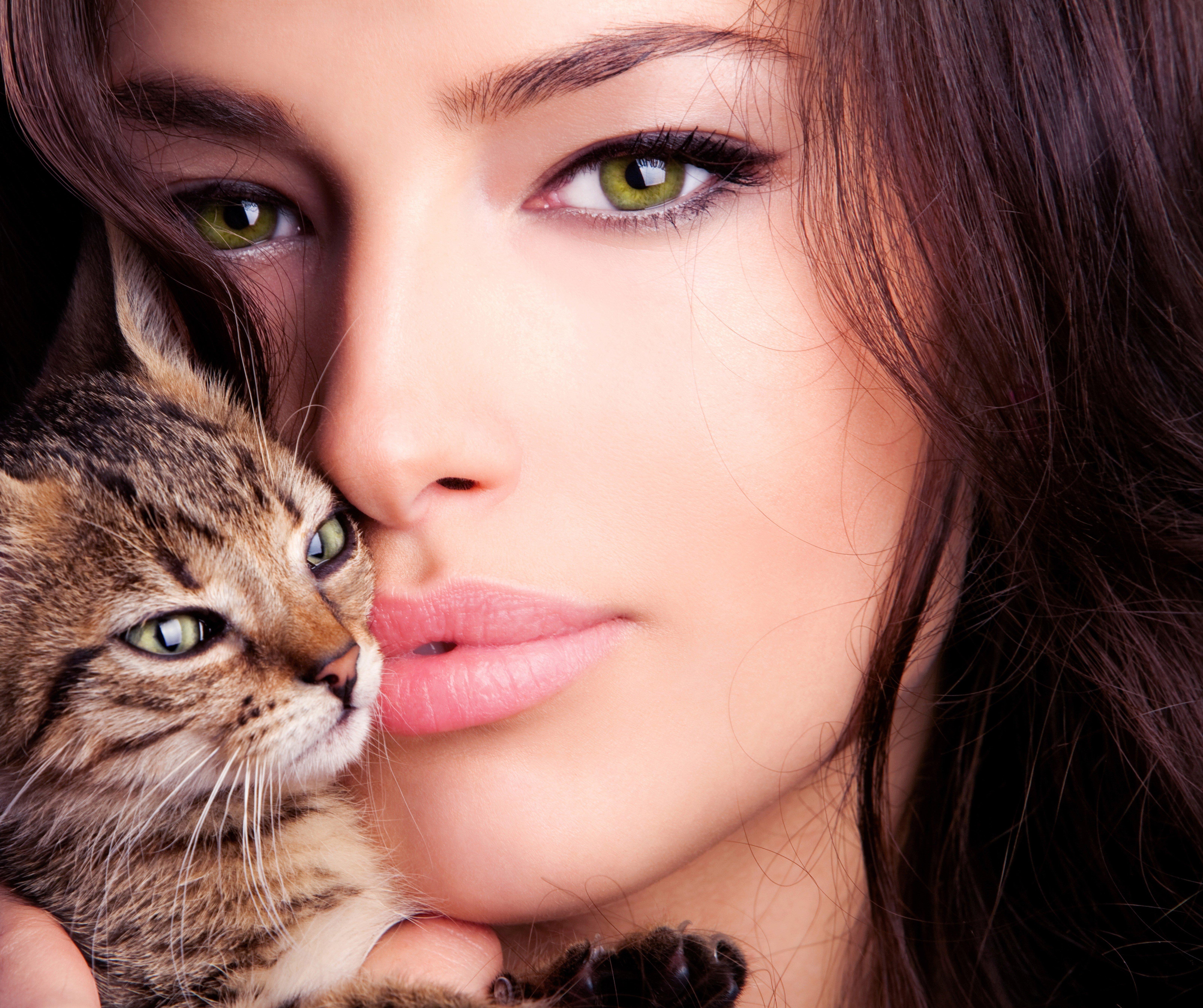 Красивые картинки человек кошка