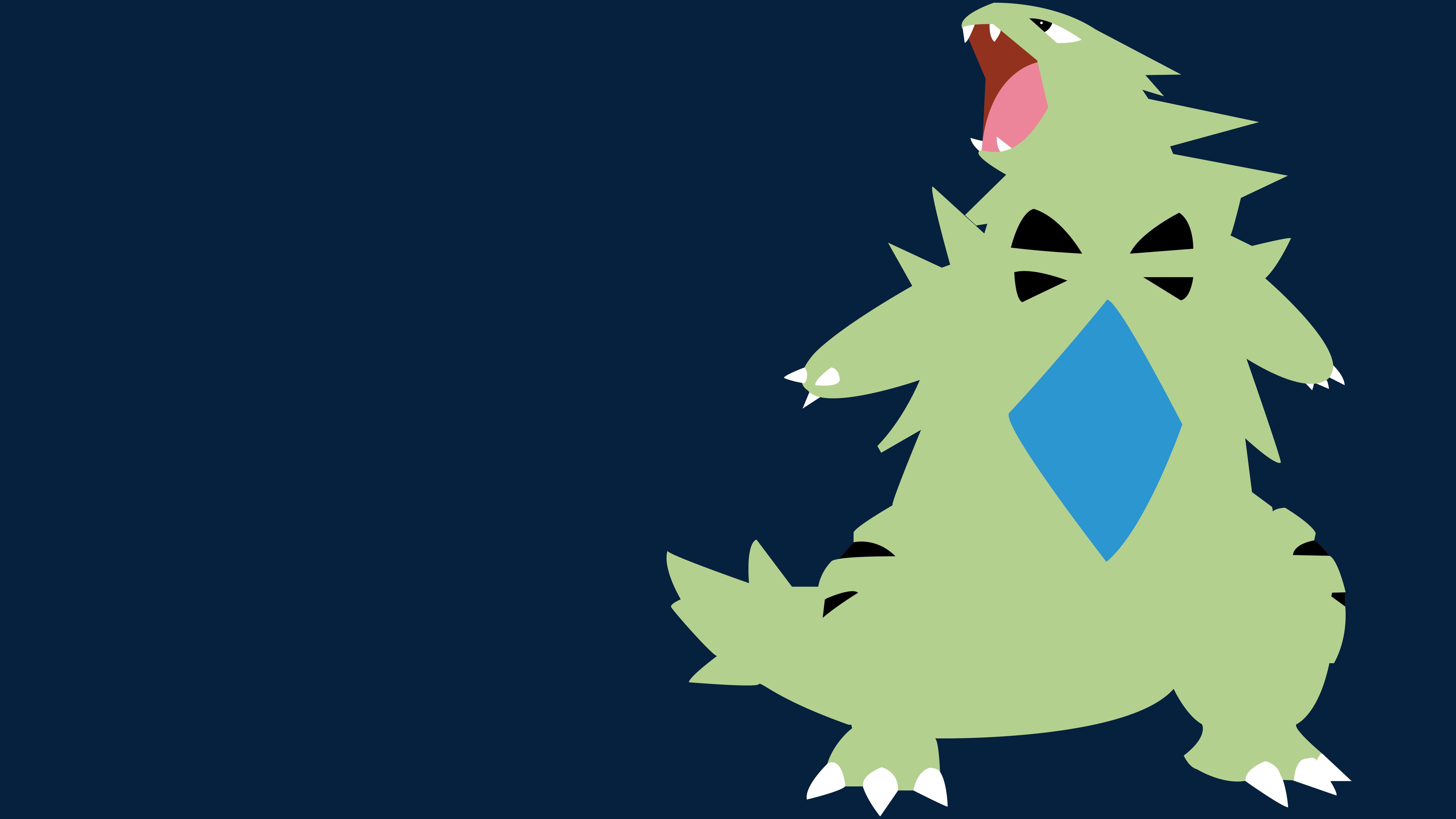 8000x4500 Px Minimalism Pokemon Second Generation Tyranitar