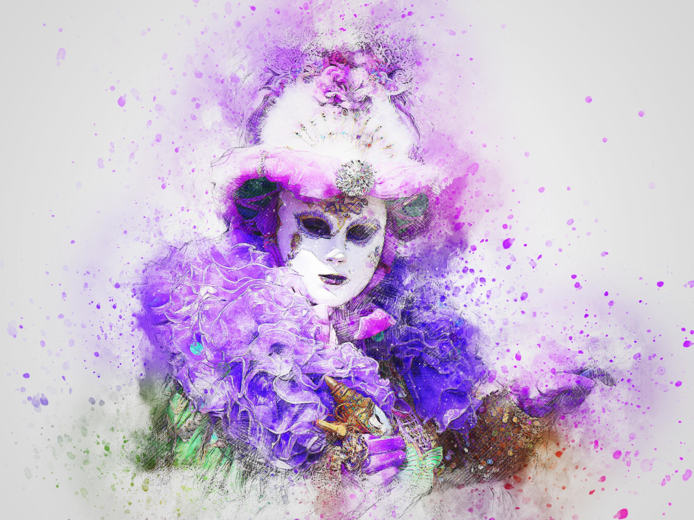 les mieux notés dernier promotion nouvelle sélection Fond d'écran : ART, masque, Carnaval, aquarelle 3000x2250 ...