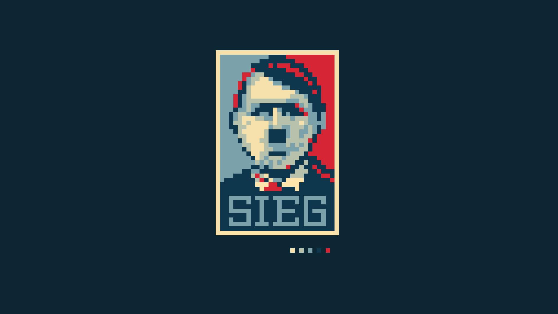 Adolf Hitler pixel art parody politics