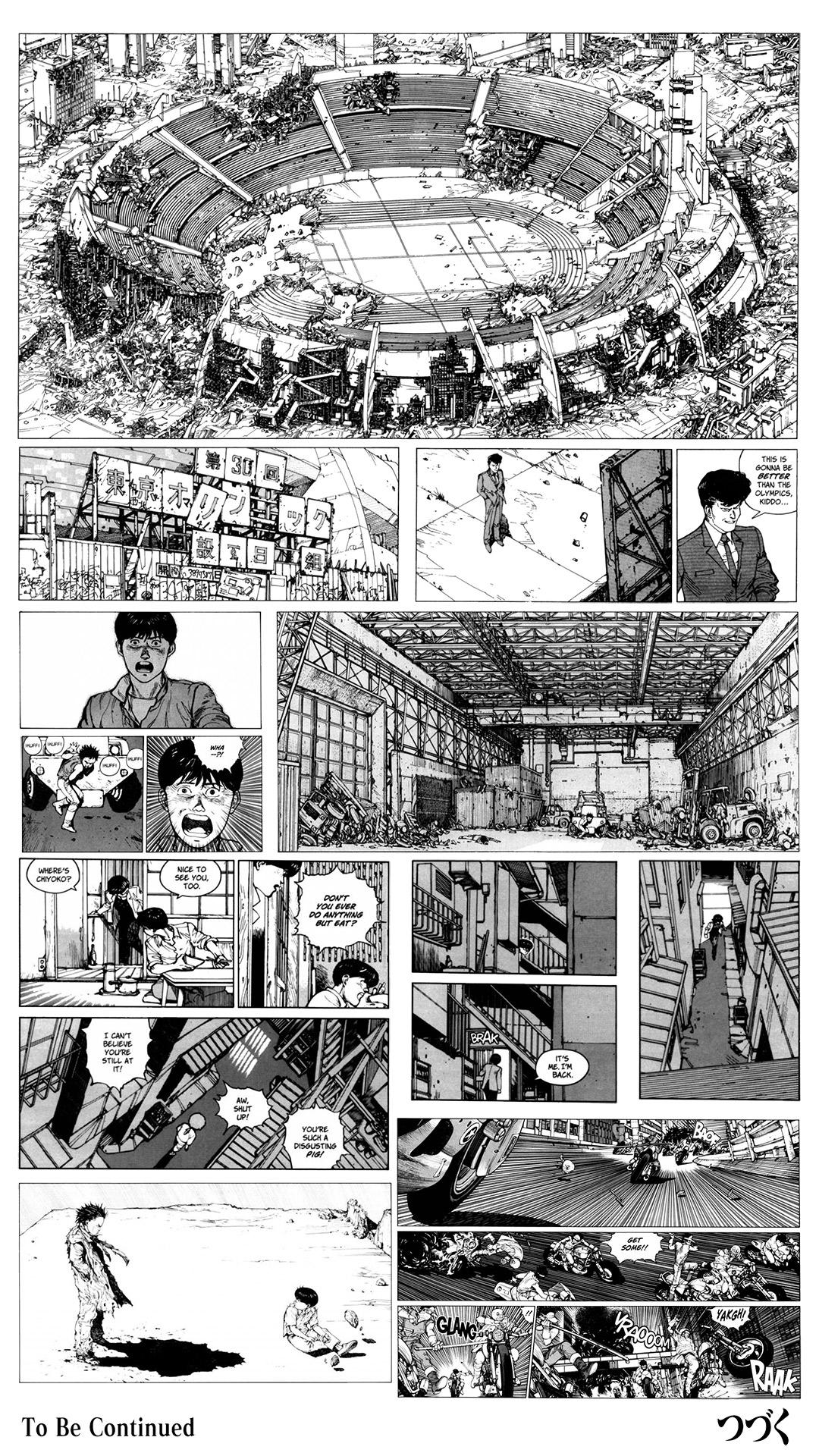 Akira Anime Manga Monochrome
