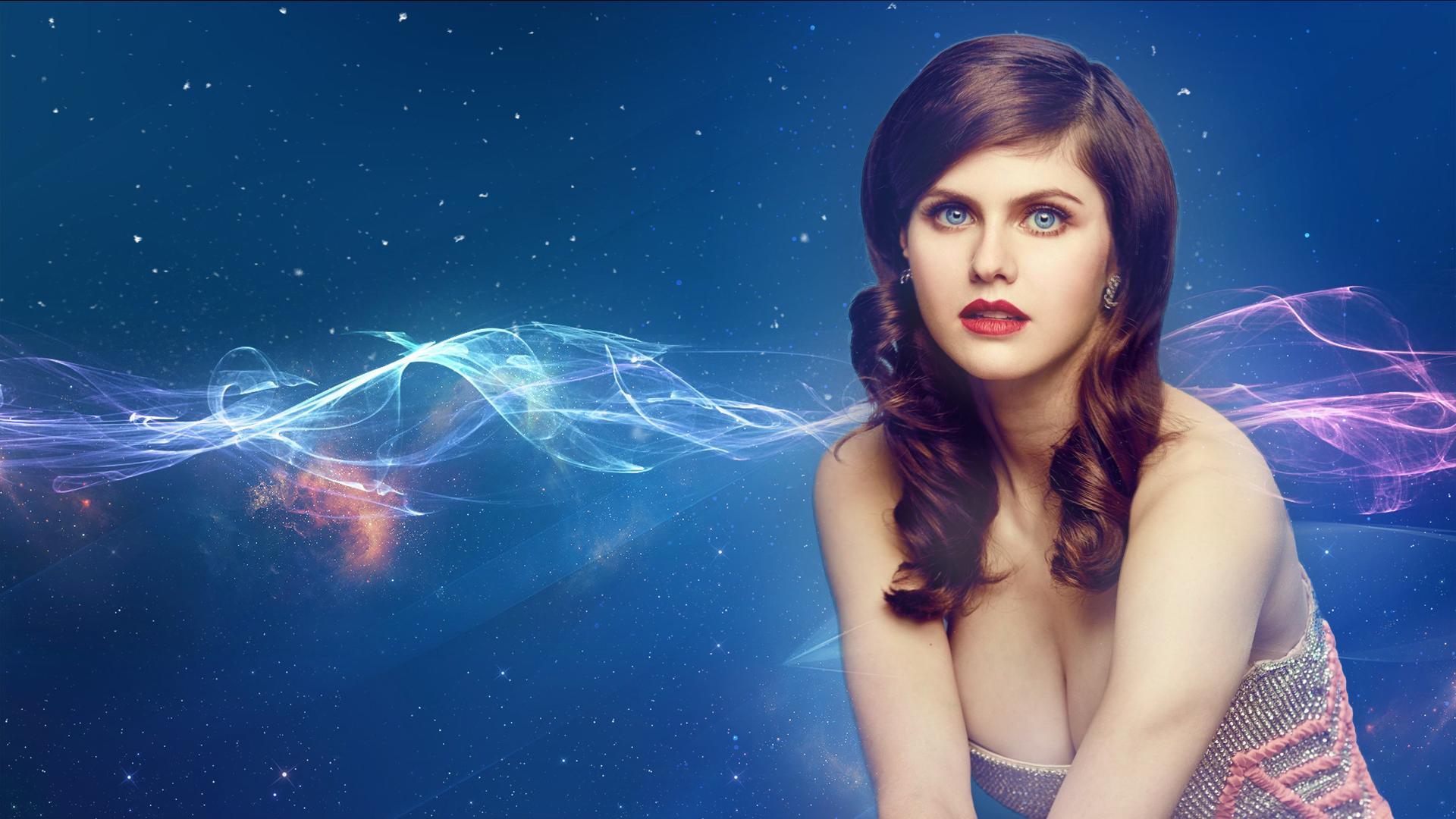 Wallpaper Alexandra Daddario Women Blue Eyes 1920x1080