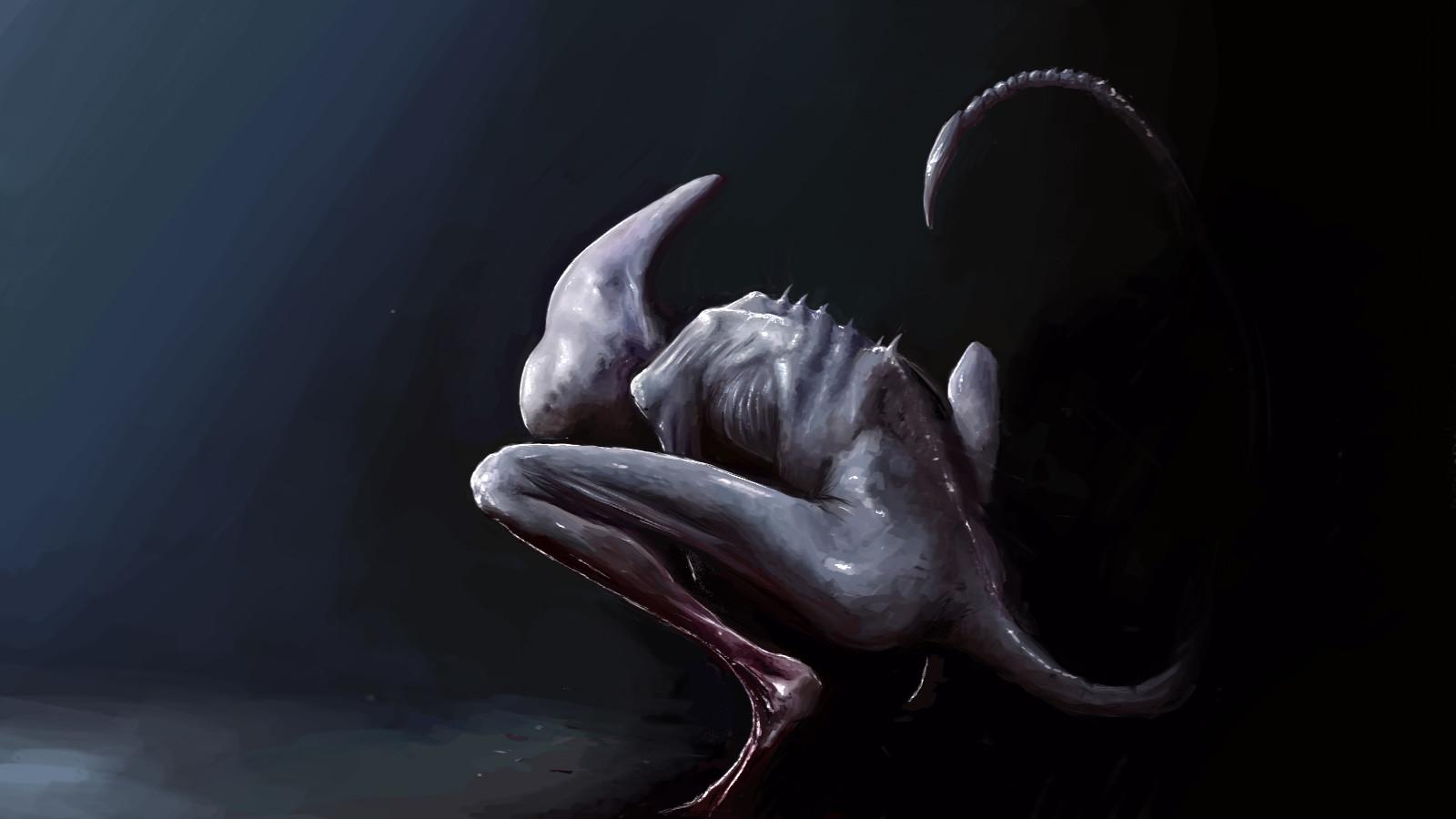 Papel De Parede : Alien Covenant, Neomorph, Sangue