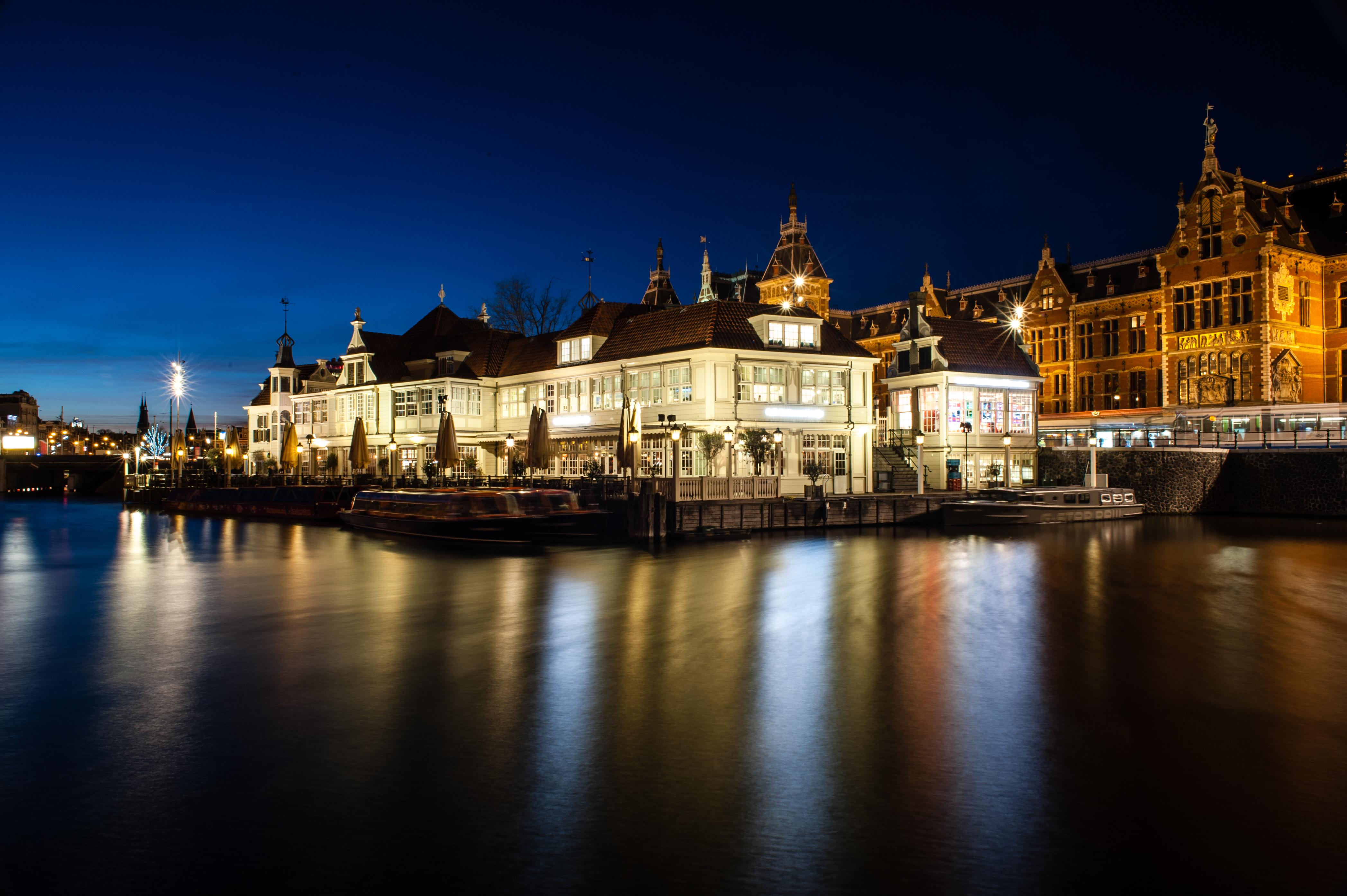 Licht Tour Amsterdam : Hintergrundbilder amsterdam nacht abend longshutter