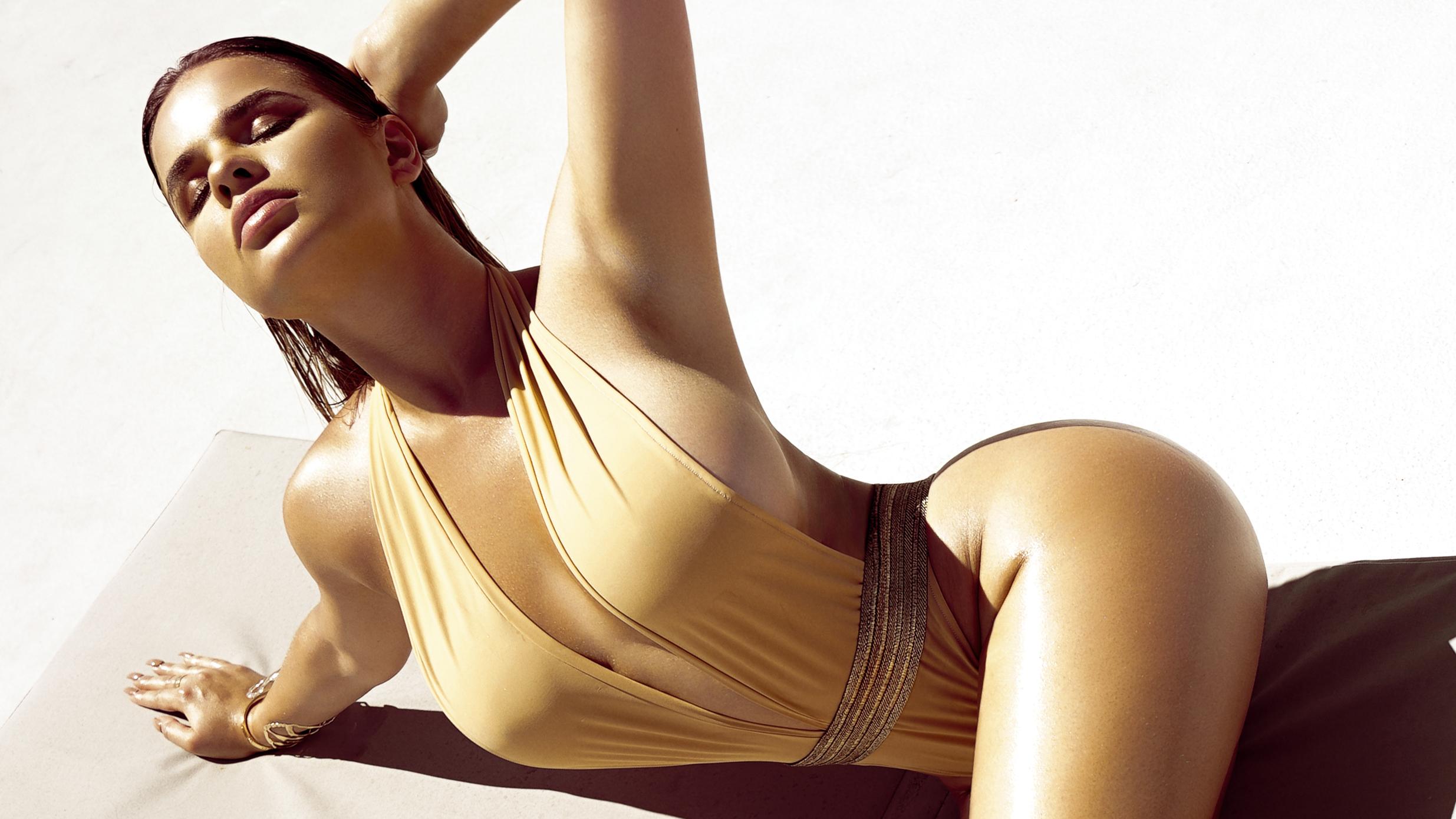 Wallpaper Anastasiya Kvitko Women Model Curvy Russian