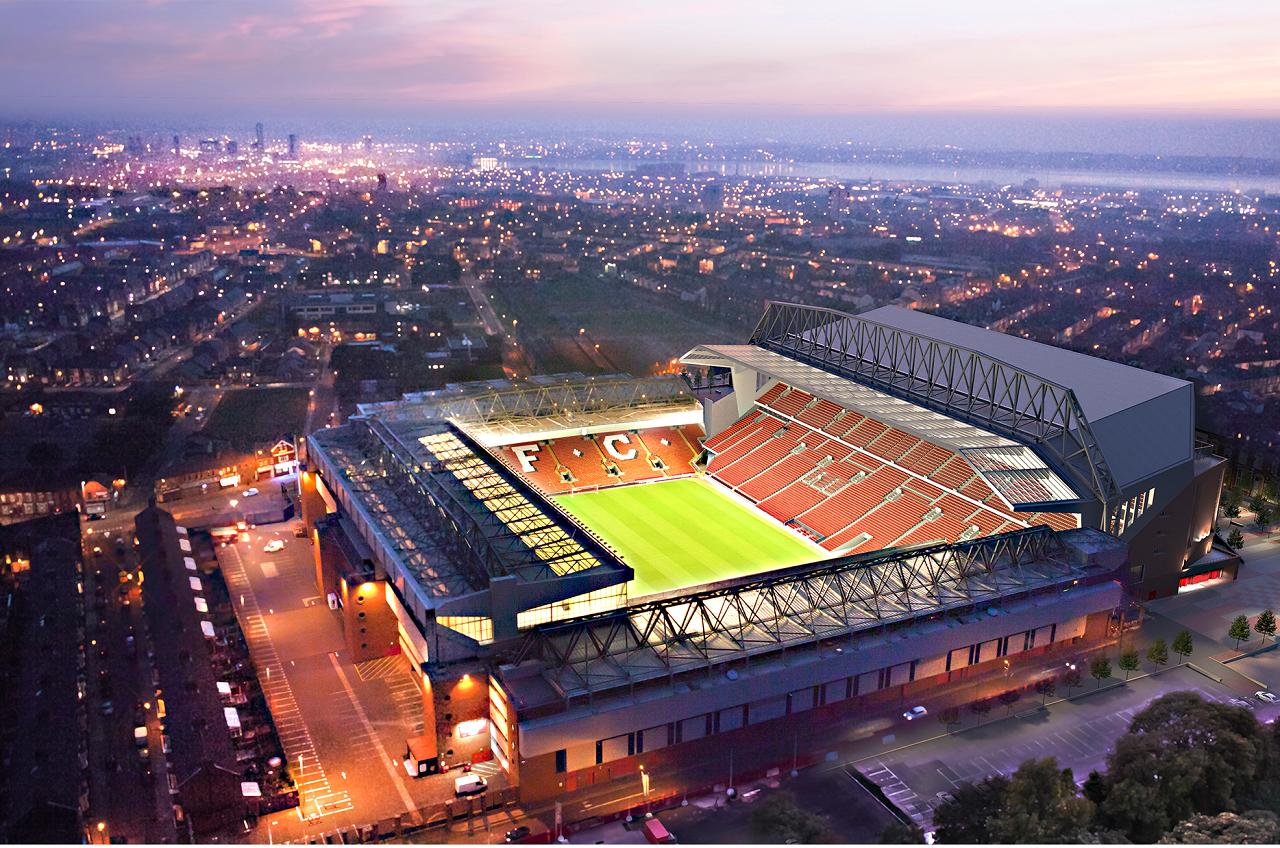Wallpaper : Anfield Road, Liverpool FC, football stadium ...