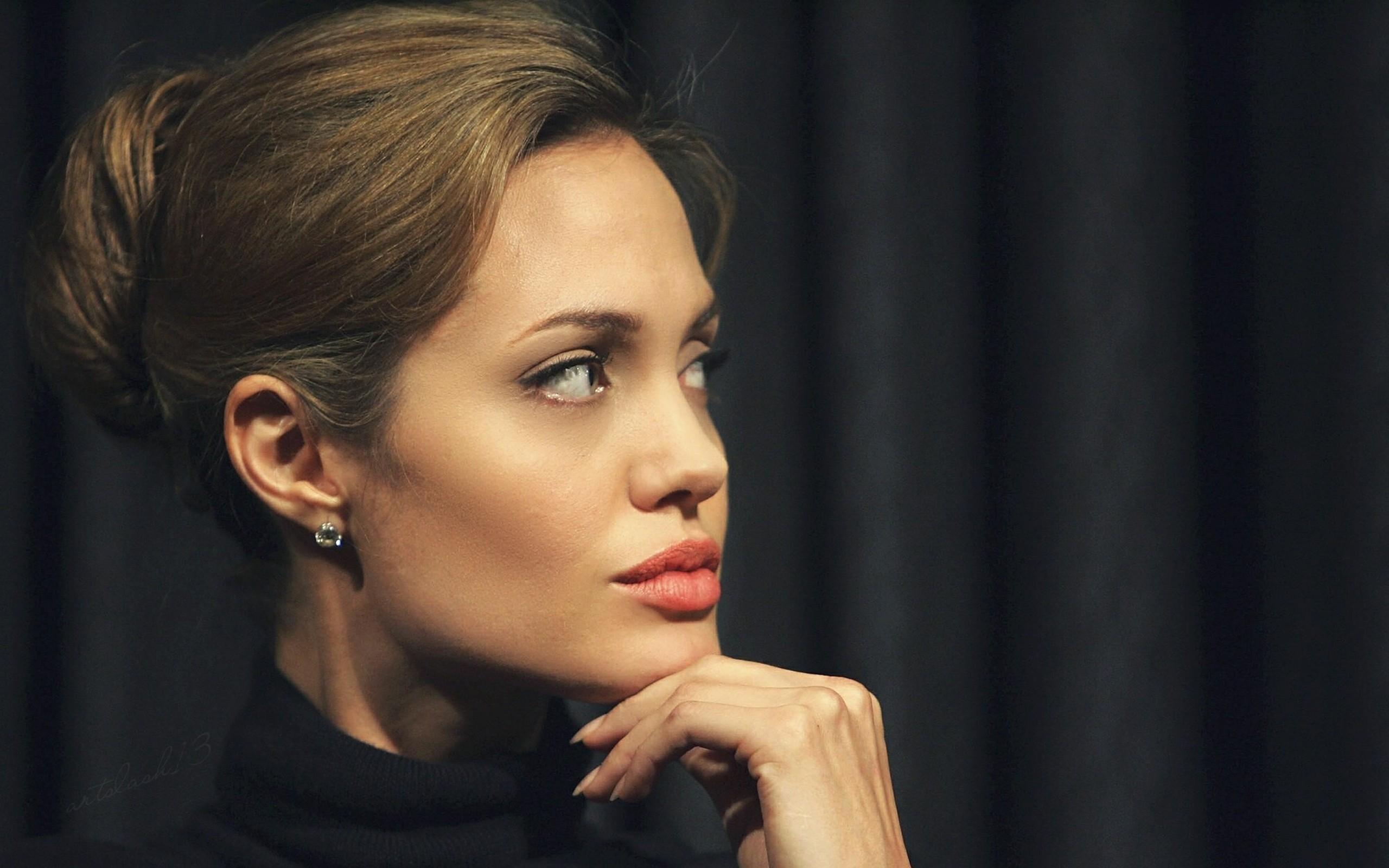 wallpaper : angelina jolie, face, eyes, actress 2560x1600