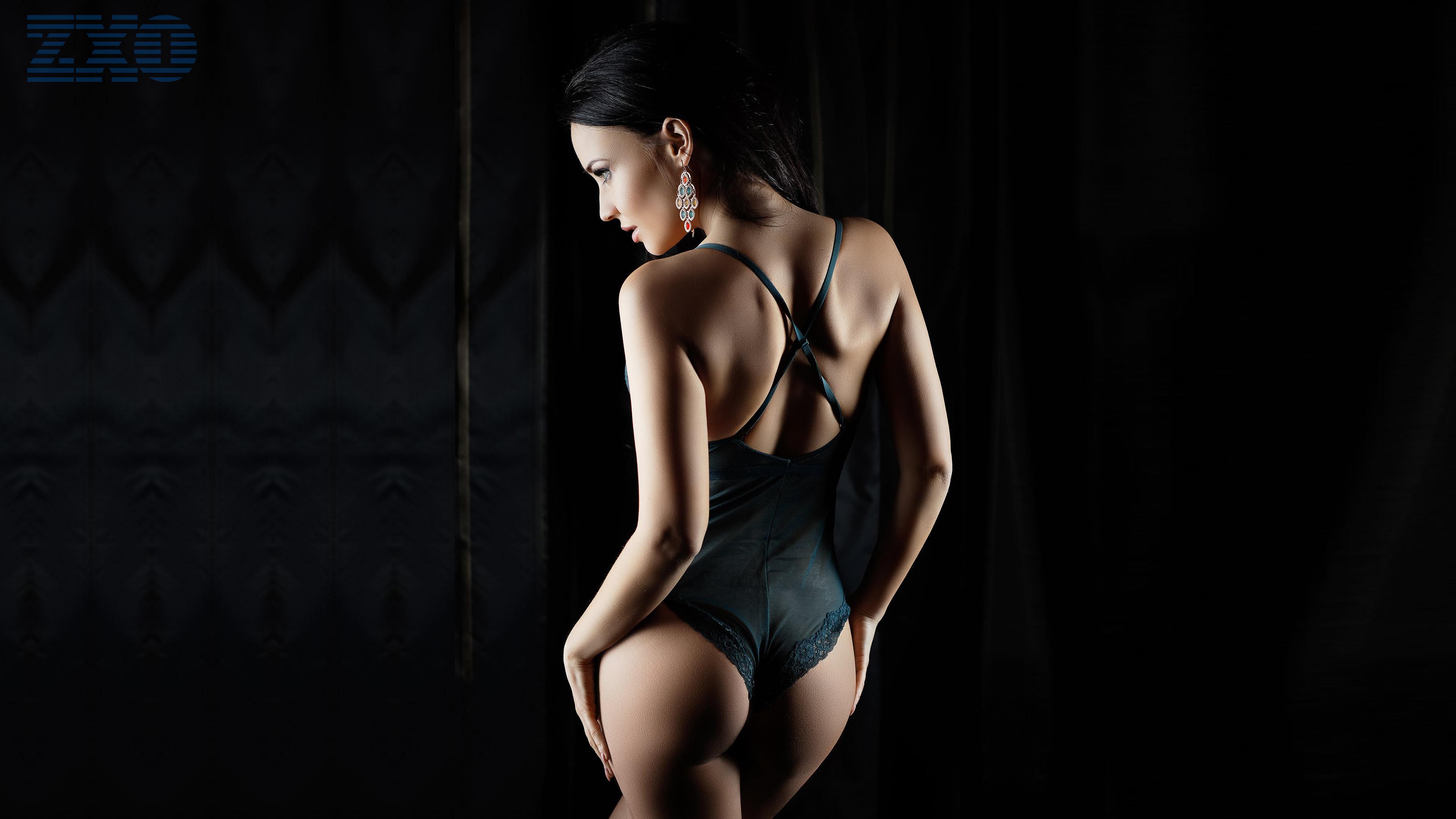 デスクトップ壁紙 アンジェリーナ ペトロワ ブルネット モデル