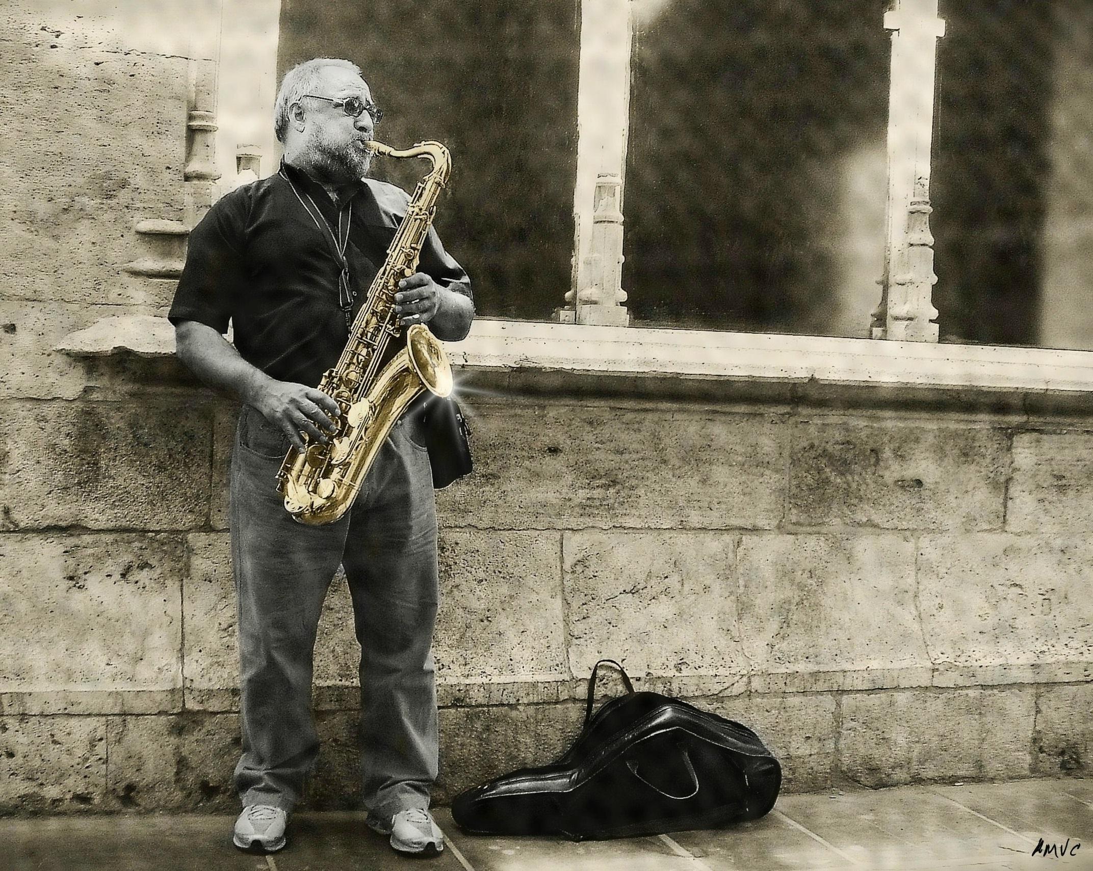 Обои saxophone, музыка, street. Музыка foto 18