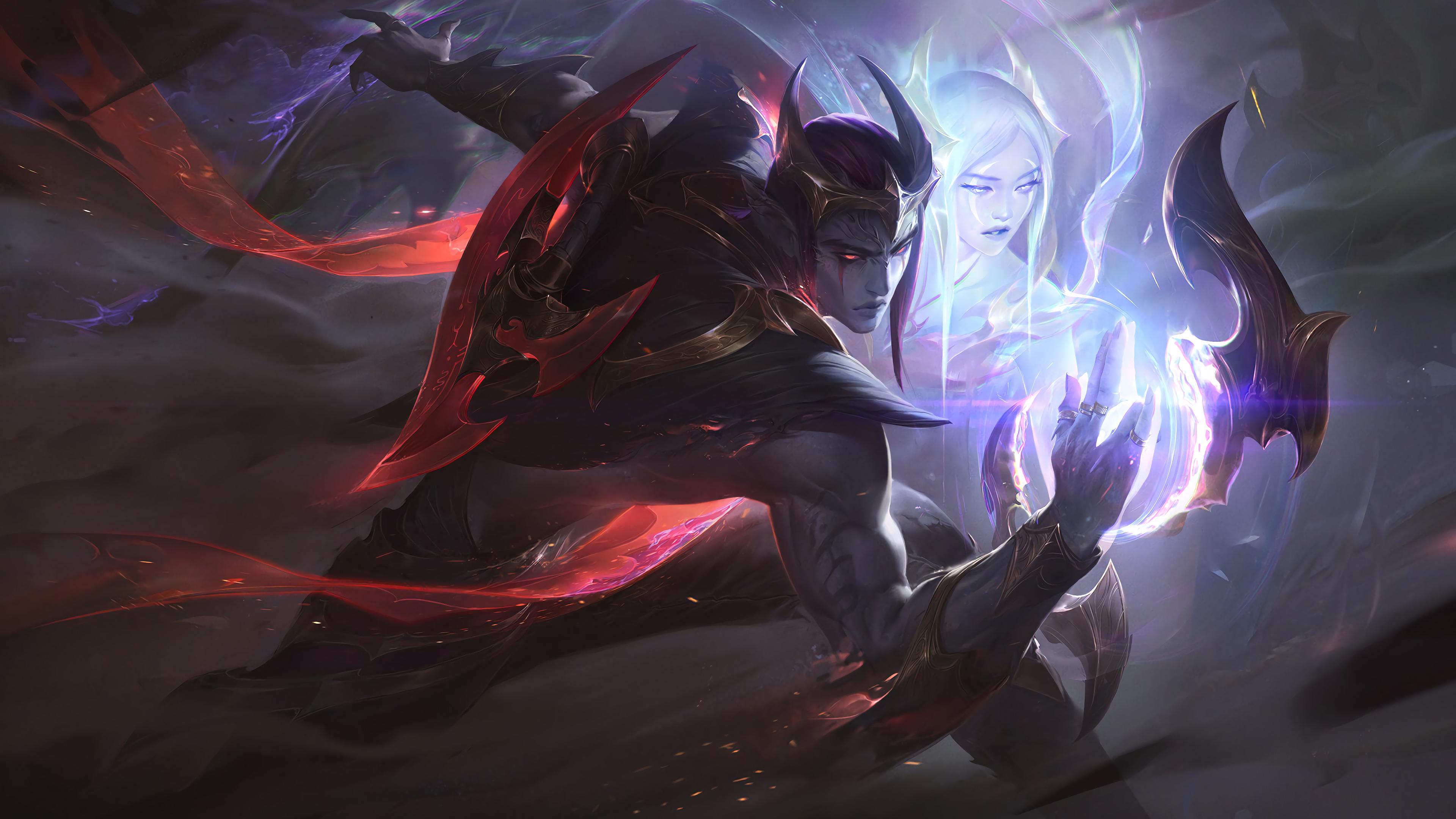 Wallpaper Aphelios League Of Legends League Of Legends Adc