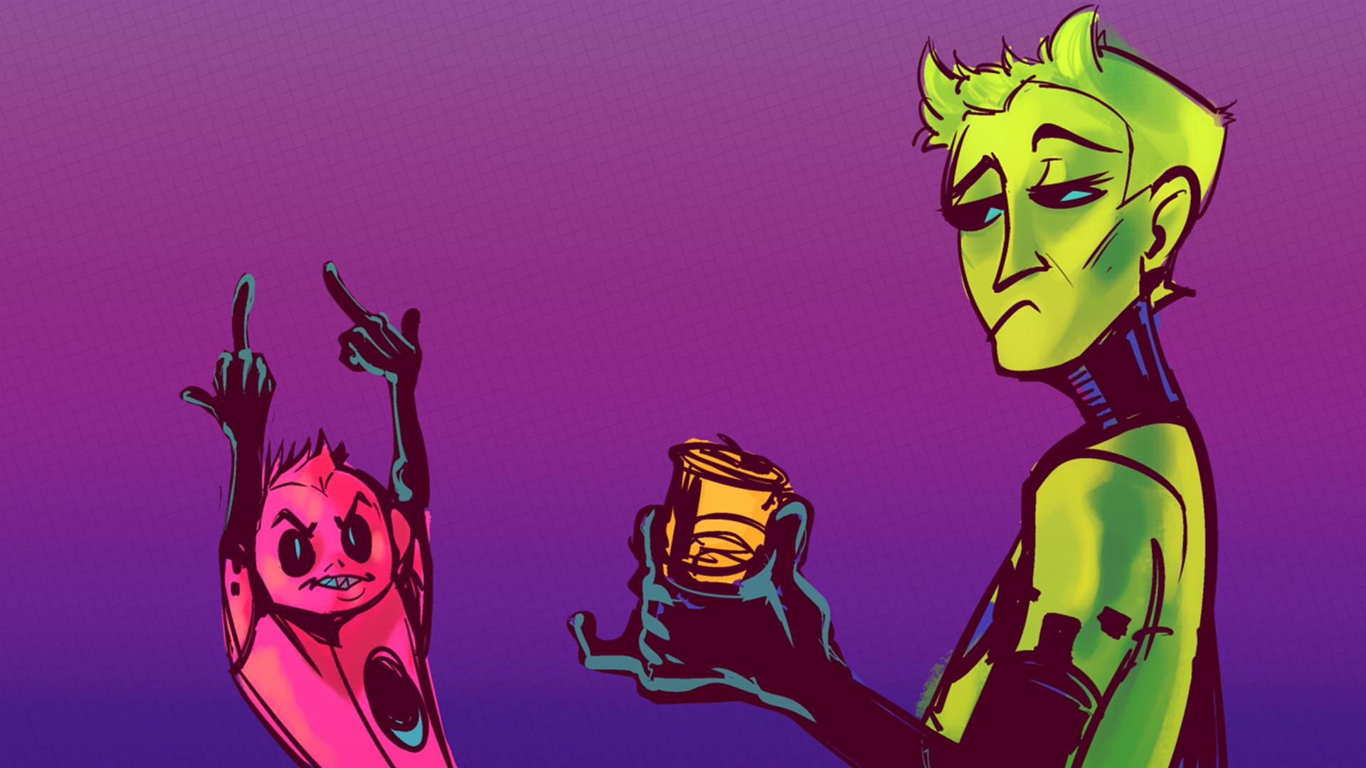 Alieni cartoni animati manifesti da muro u poster fanny alieno