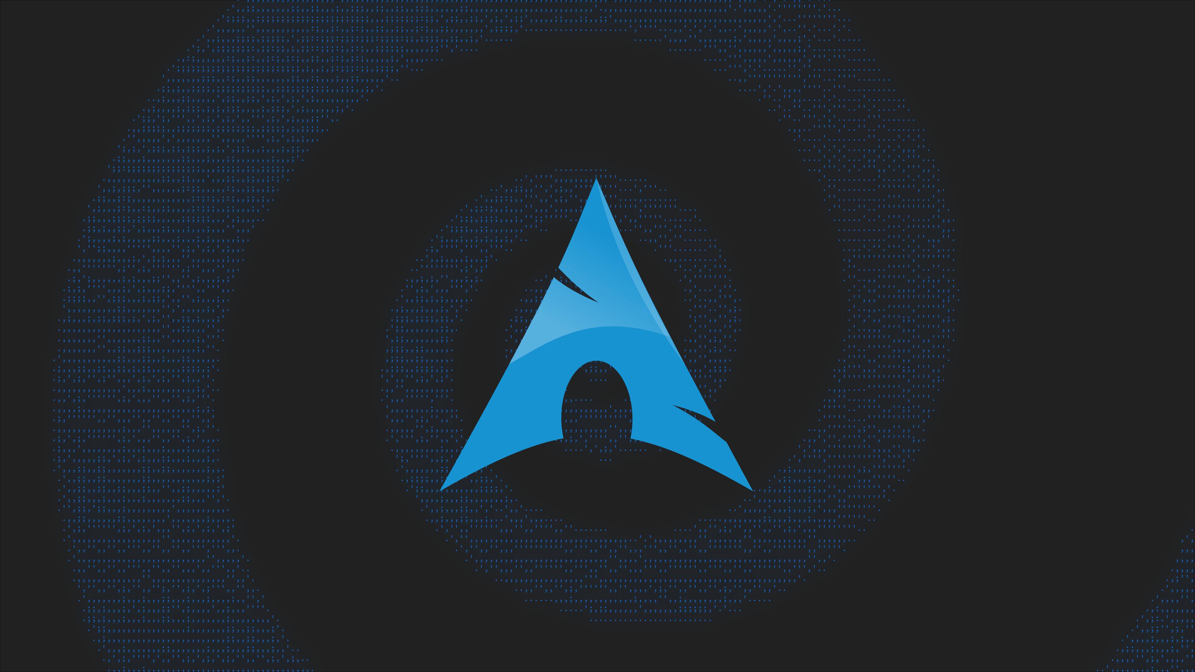 Wallpaper : Arch Linux, material minimal, minimalism, ASCII art