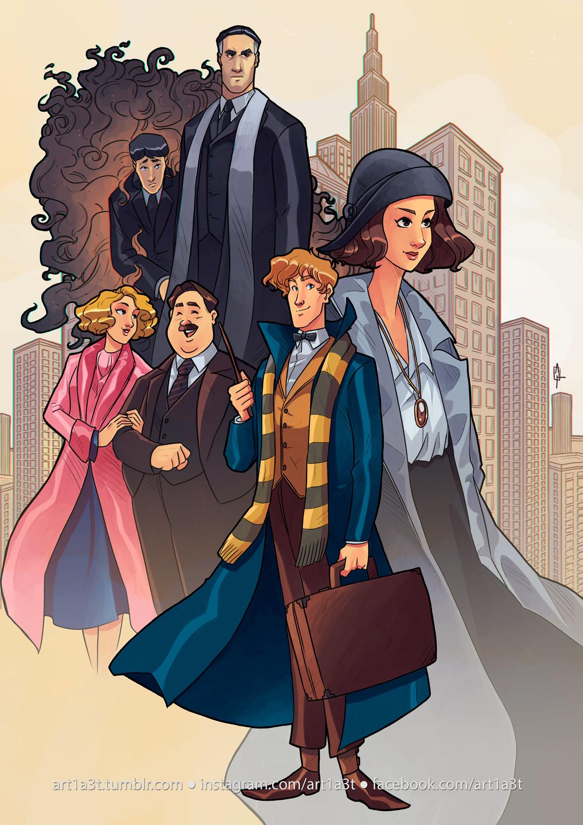 Wallpaper Arthur Fran A Fantastic Beasts Illustration