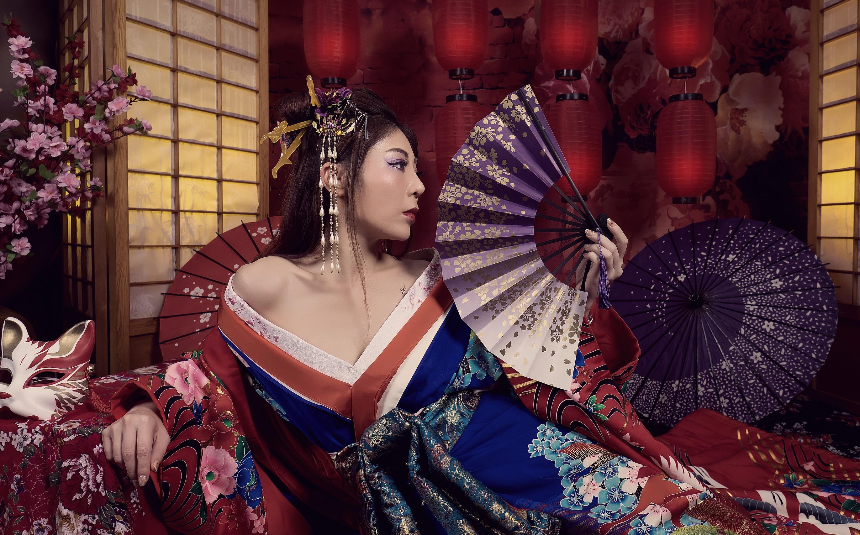 Japanese Geisha Art Stickers