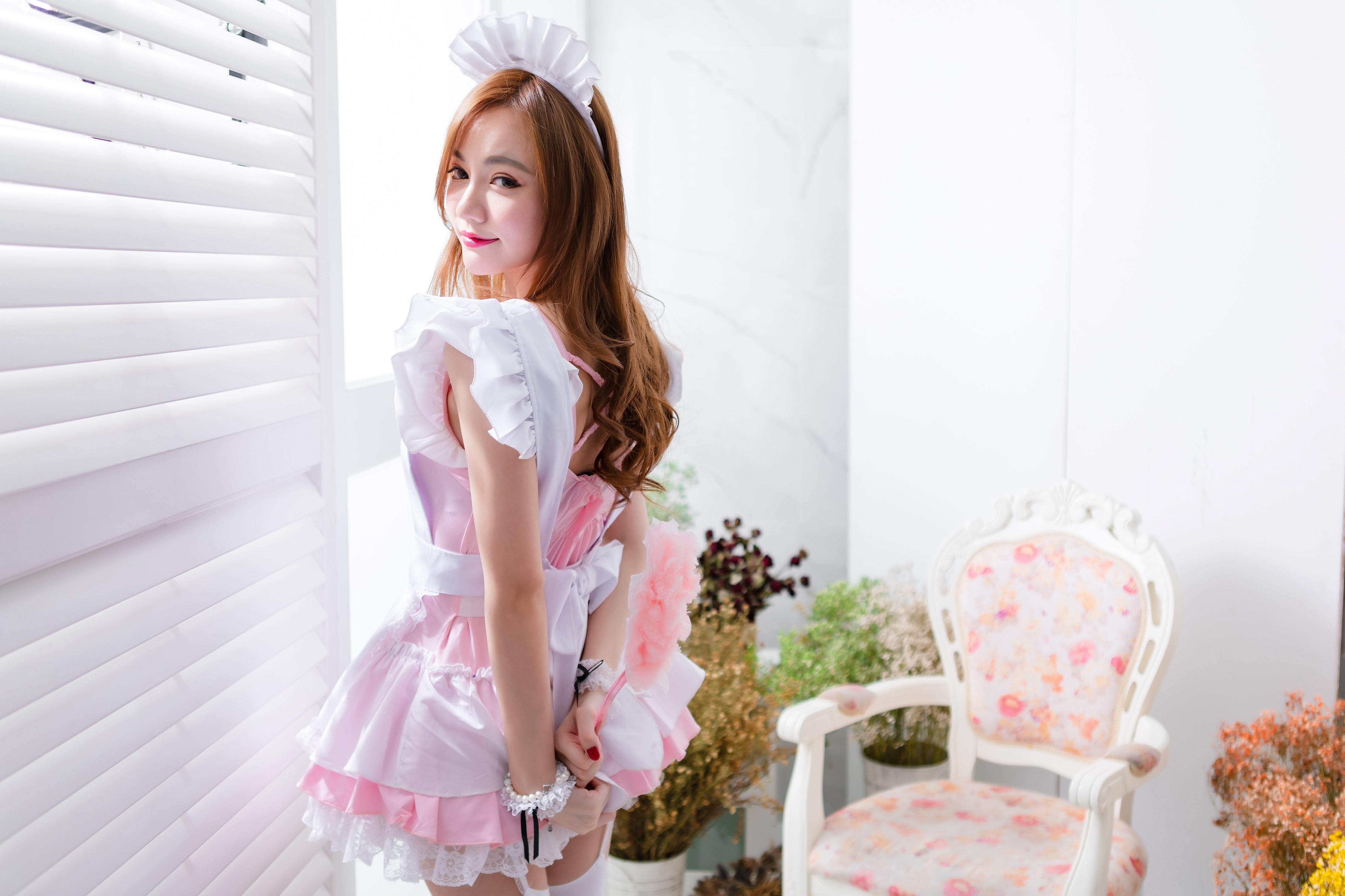 mature Maid brunette looking