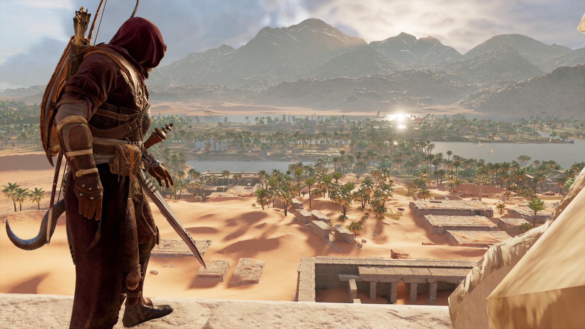 Wallpaper Assassins Creed Origins Pc Gaming Video Games