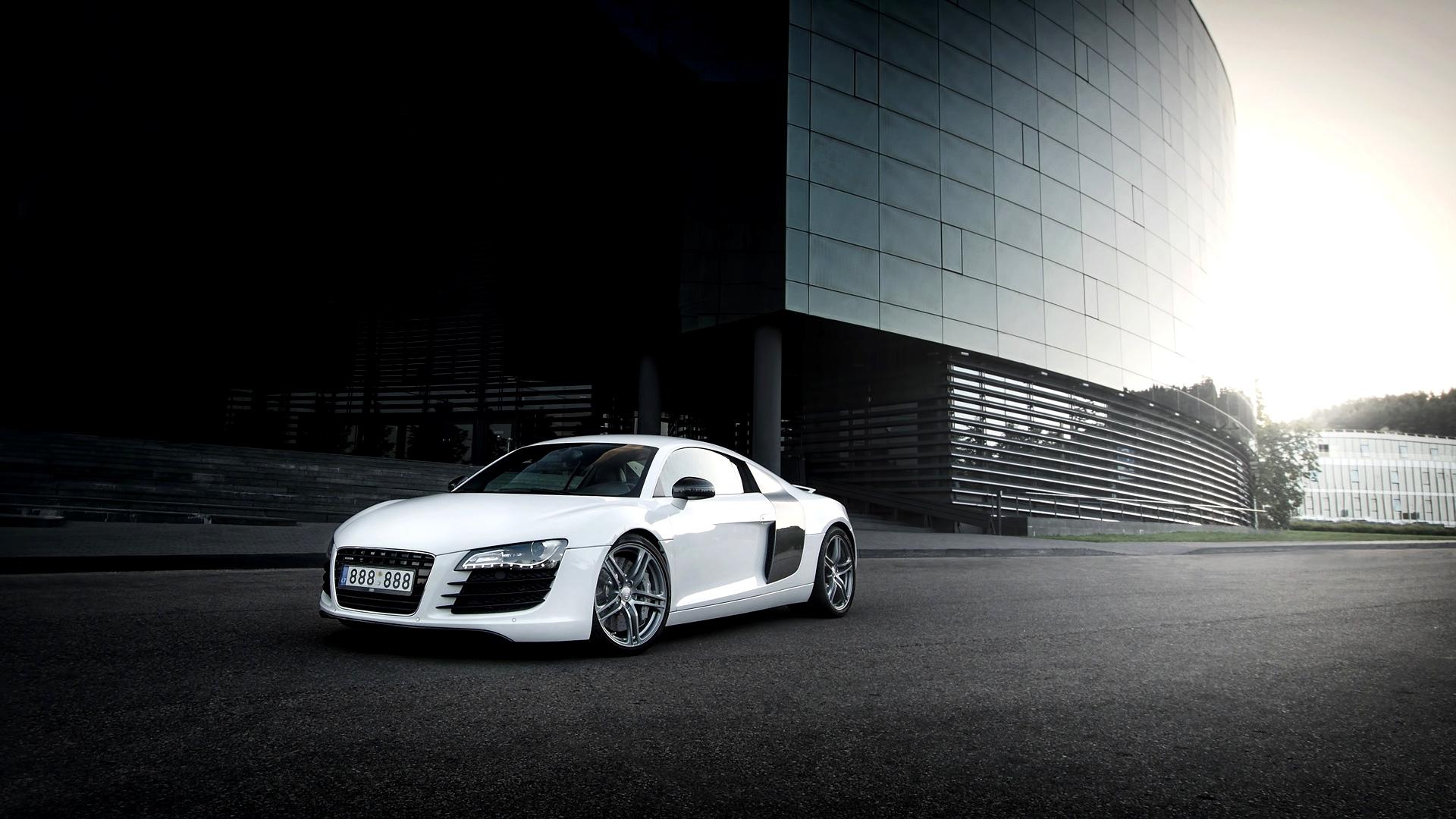 Audi R8 White Building