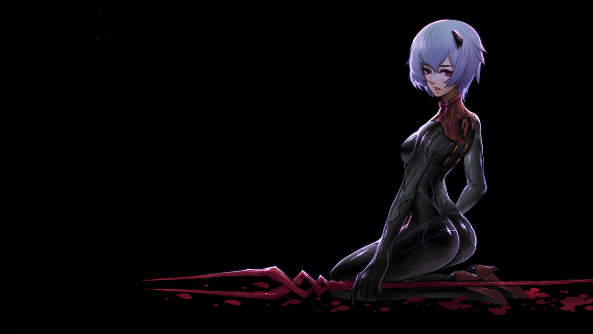 Fondos De Pantalla Ayanami Rei Salpicaduras De Sangre
