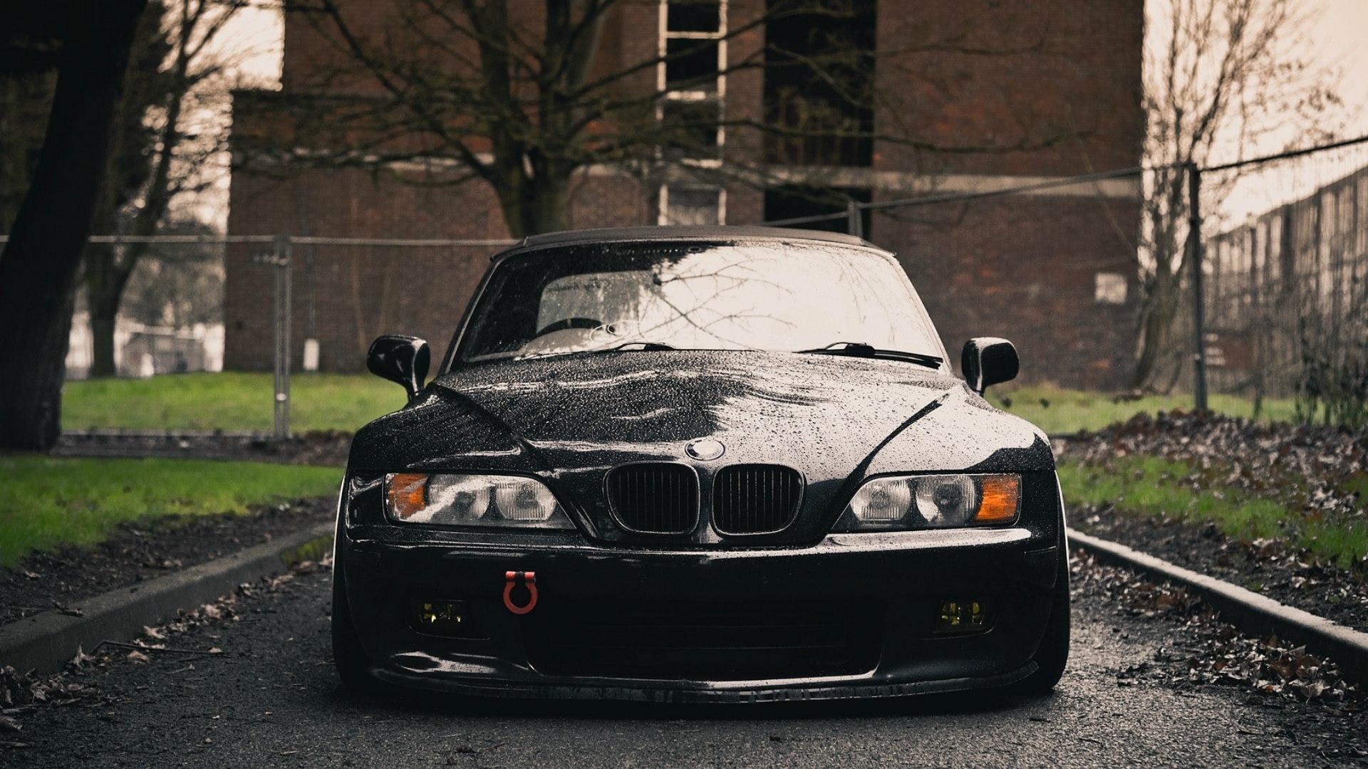 Wallpaper : BMW, Z3, black, front, wet 1920x1080 - wallup ...