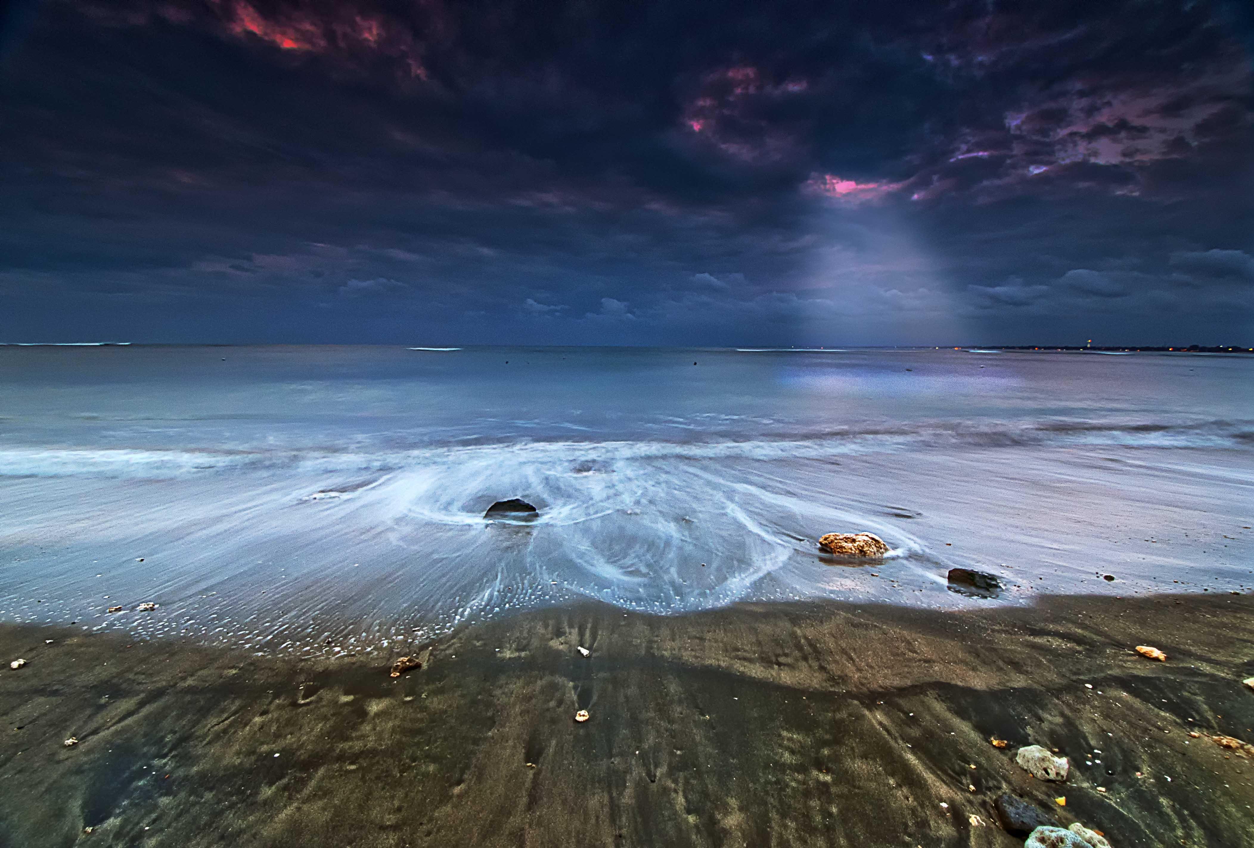 Wallpaper Bali Beach Nature Rock Sunrise Landscape