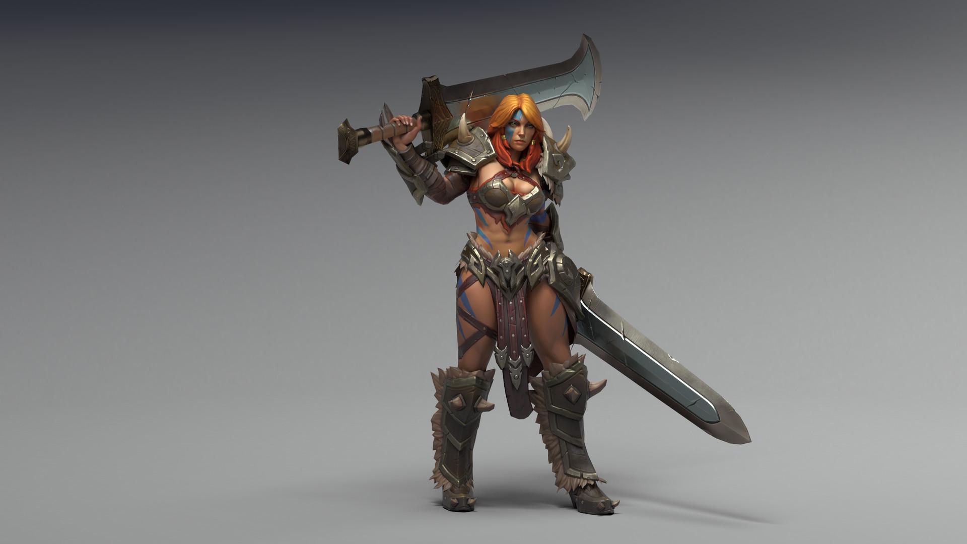 Wallpaper Barbarian Sword Armor Diablo 3 Reaper Of Souls