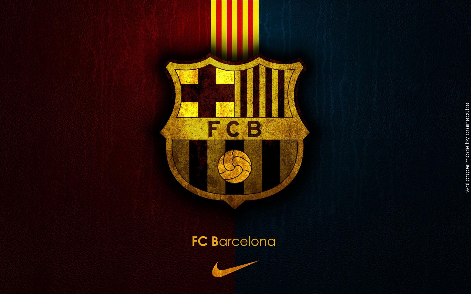 wallpaper barcelona spanyol klub sepak bola olahraga logo